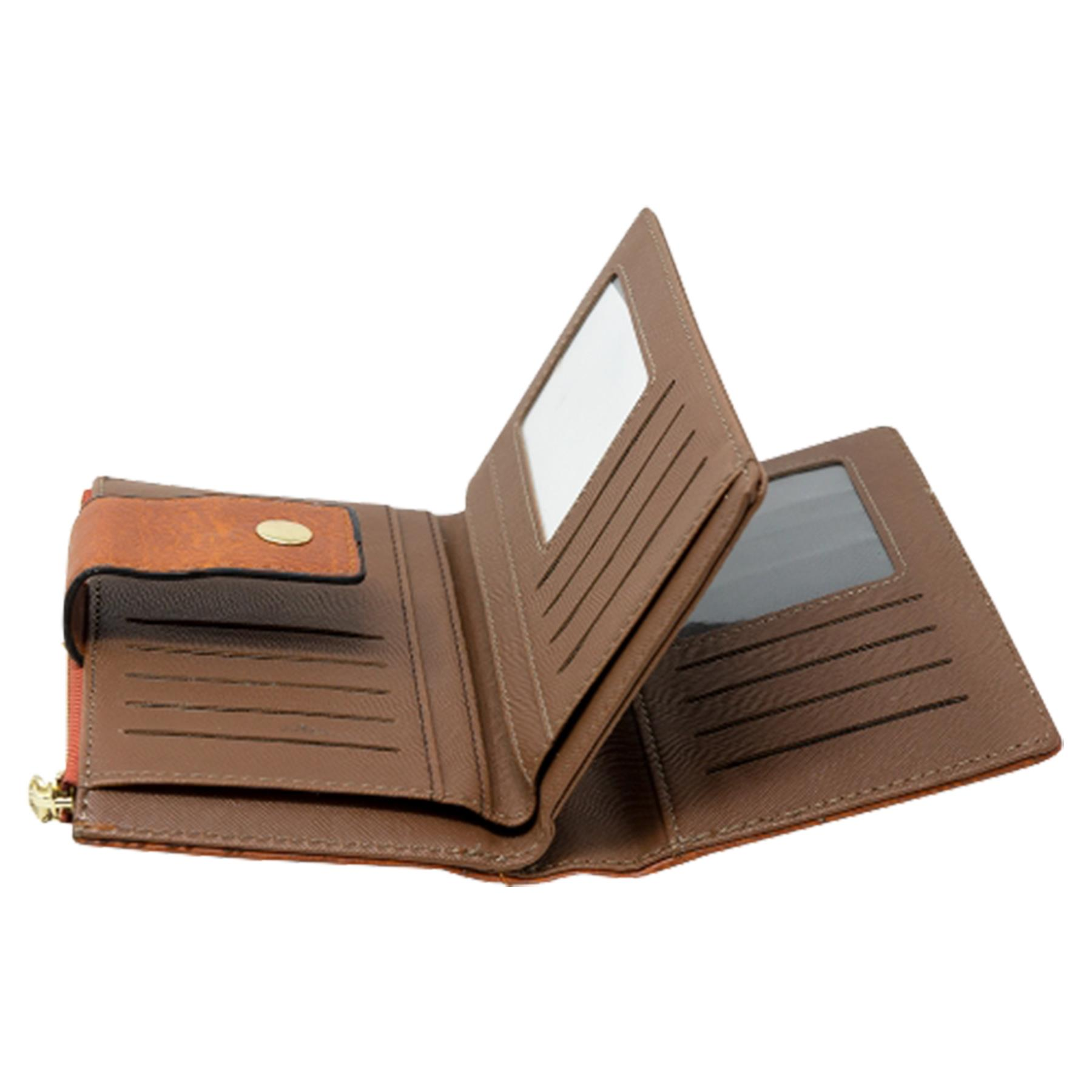 New-Soft-Plain-Synthetic-Leather-Card-Organiser-Ladies-Long-Purse thumbnail 13