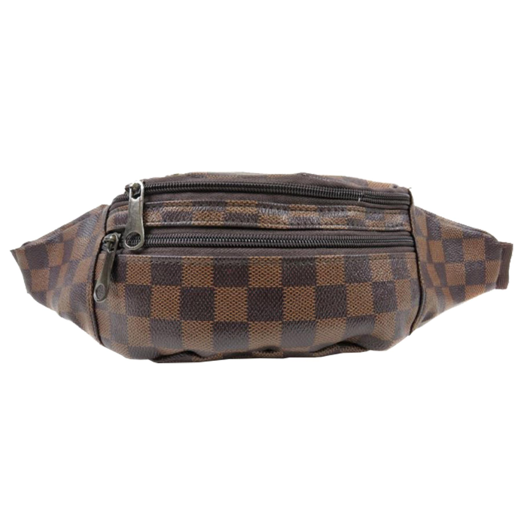 New-Women-s-Checked-Design-Synthetic-Leather-Fashion-Bum-Hip-Belt-Bag thumbnail 3