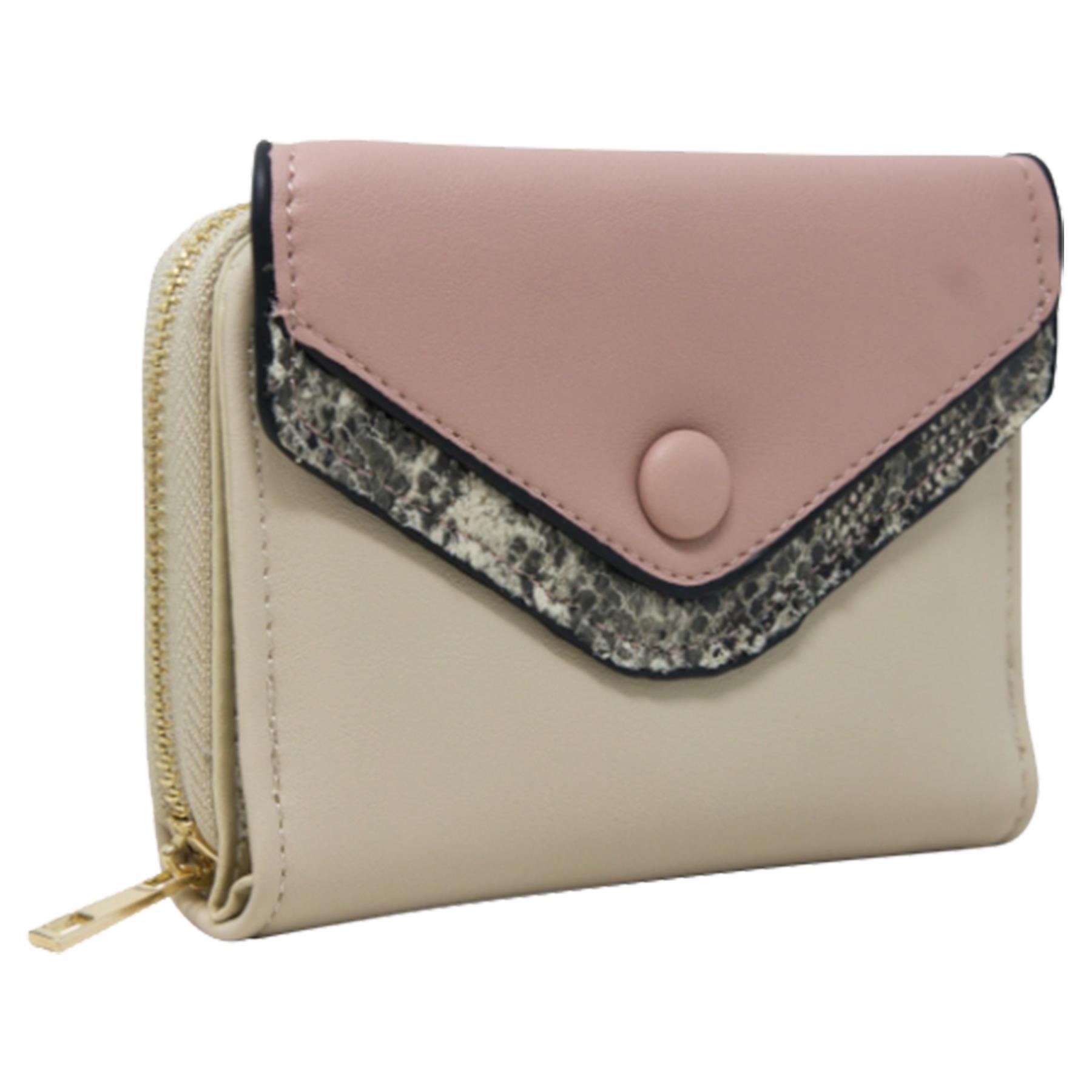 New-Ladies-Multicoloured-Envelope-Faux-Leather-Reptile-Detail-Purse thumbnail 3