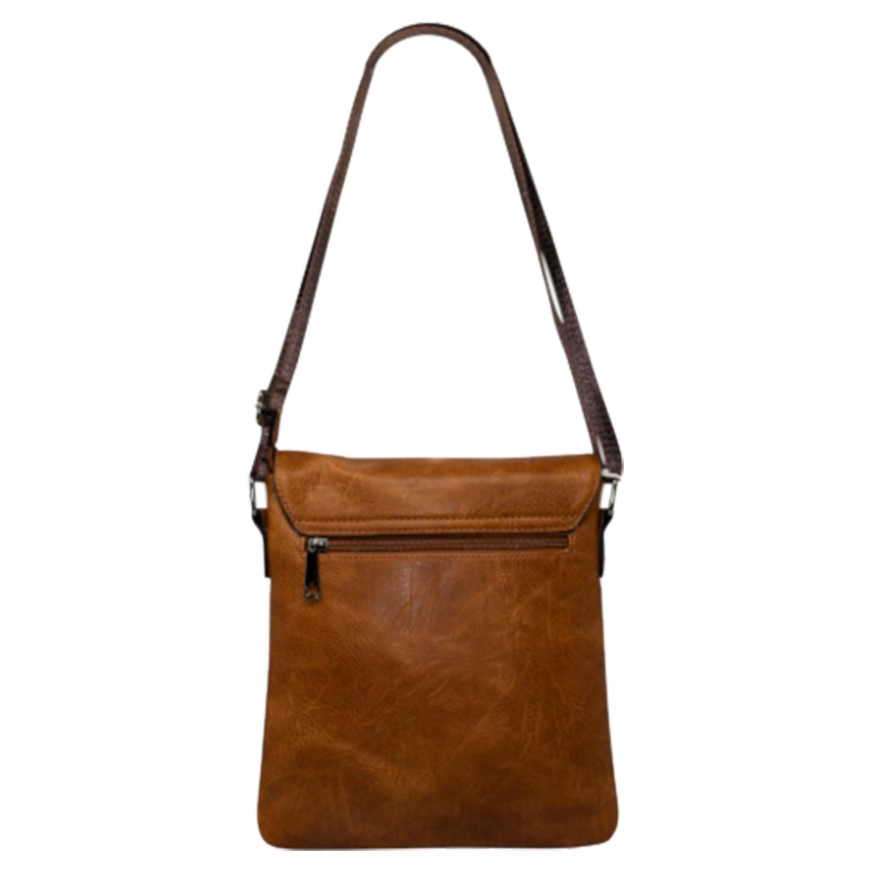 New-Plain-Faux-Leather-Men-s-Travel-Casual-Flap-Over-Messenger-Bag thumbnail 8