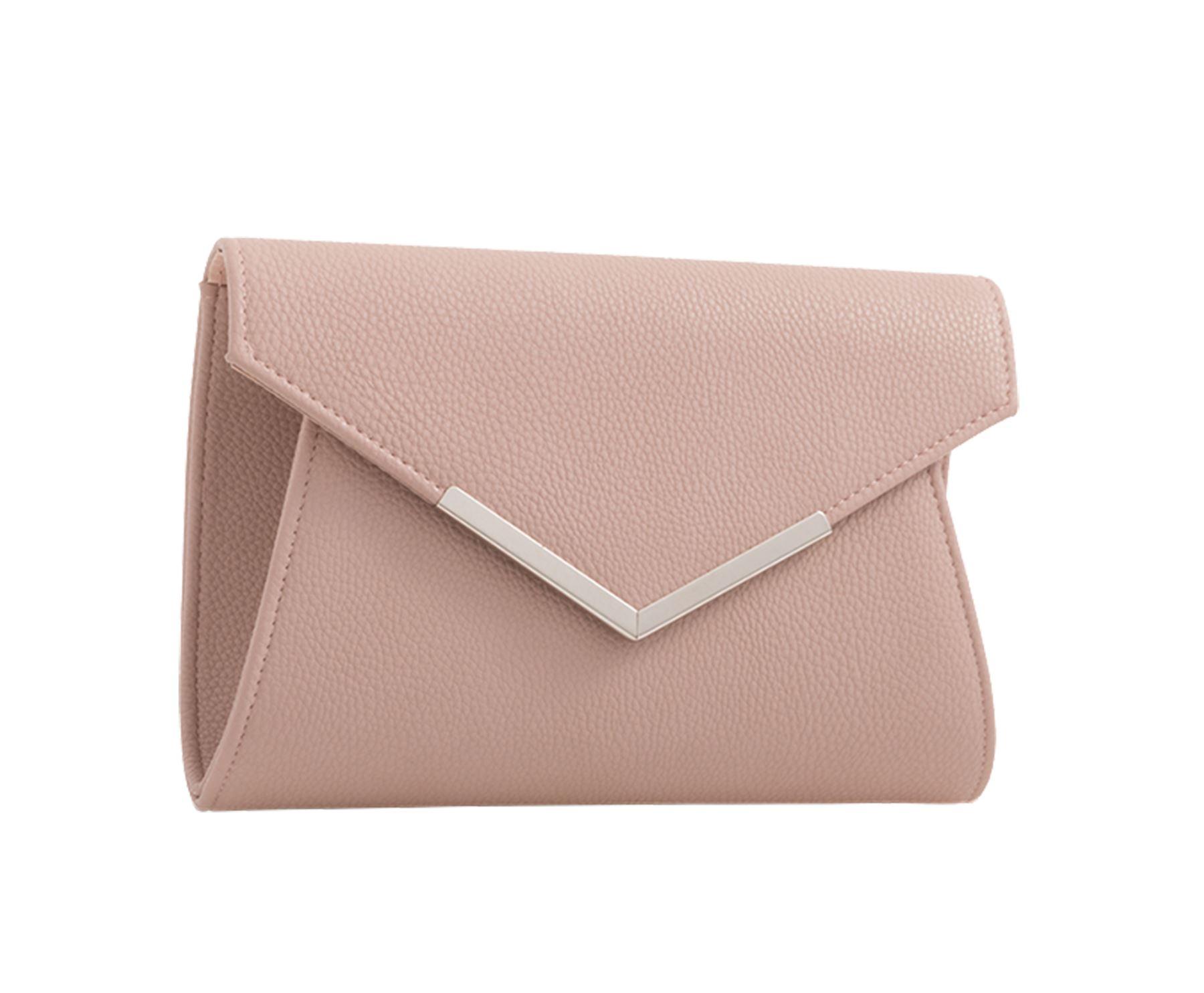 New Satin Glitter Flap Arrow Trim Ladies Evening Clutch Bag Purse