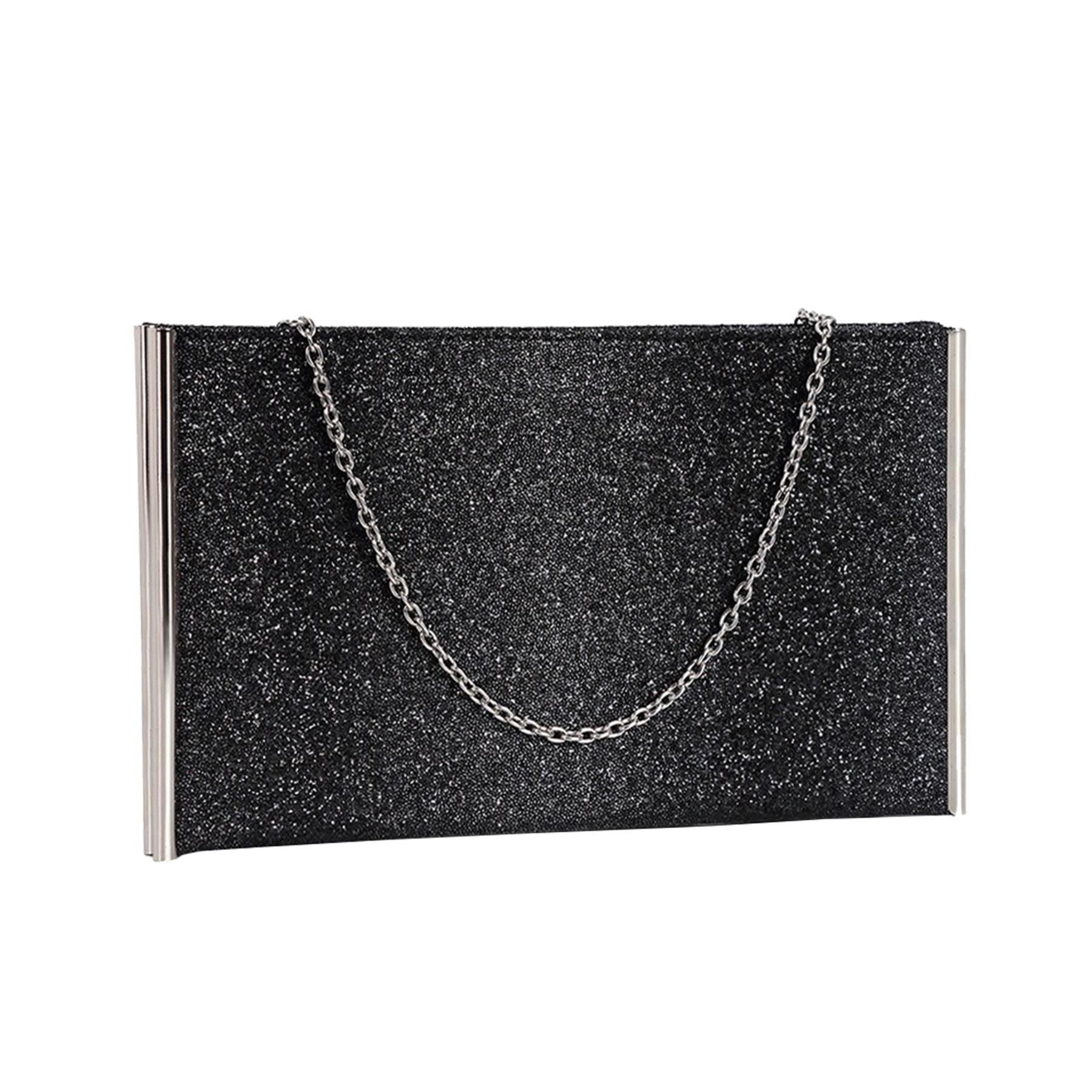 New-Ladies-Metallic-Trim-Velvet-Shimmer-Hologram-Croc-Evening-Clutch-Bag thumbnail 12