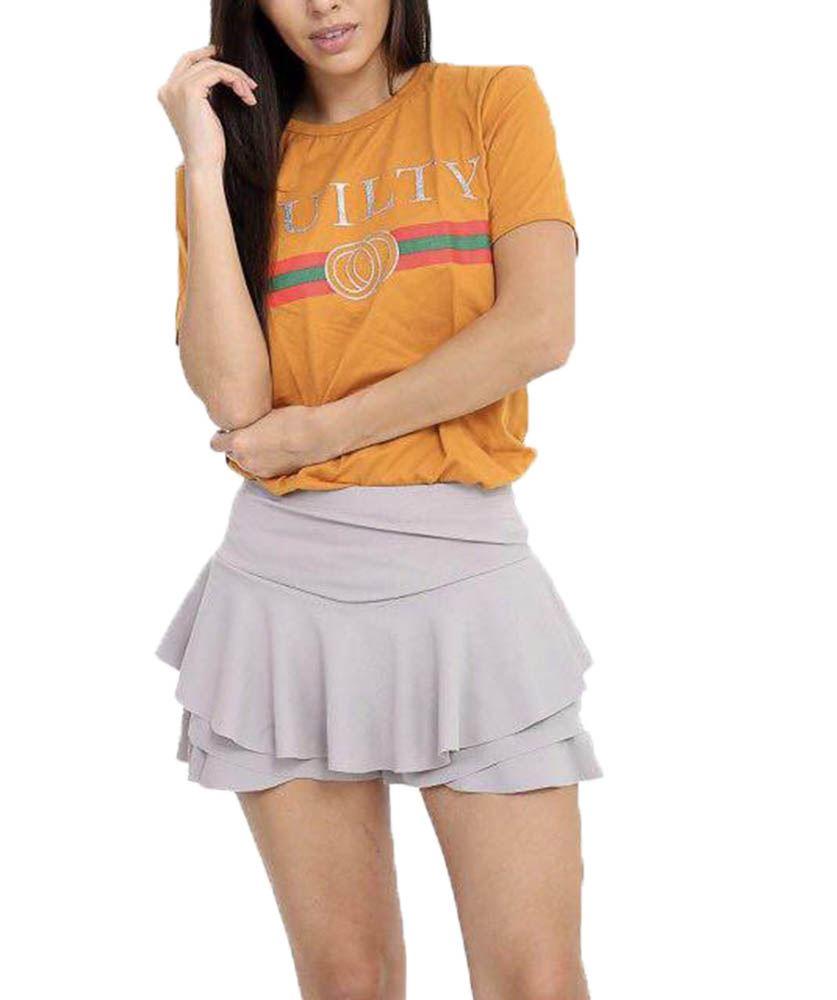 e9622ad5 New Celebrity Style Slogan Guilty Liberte Queen Bonjour Print T-Shirt UK  8-26