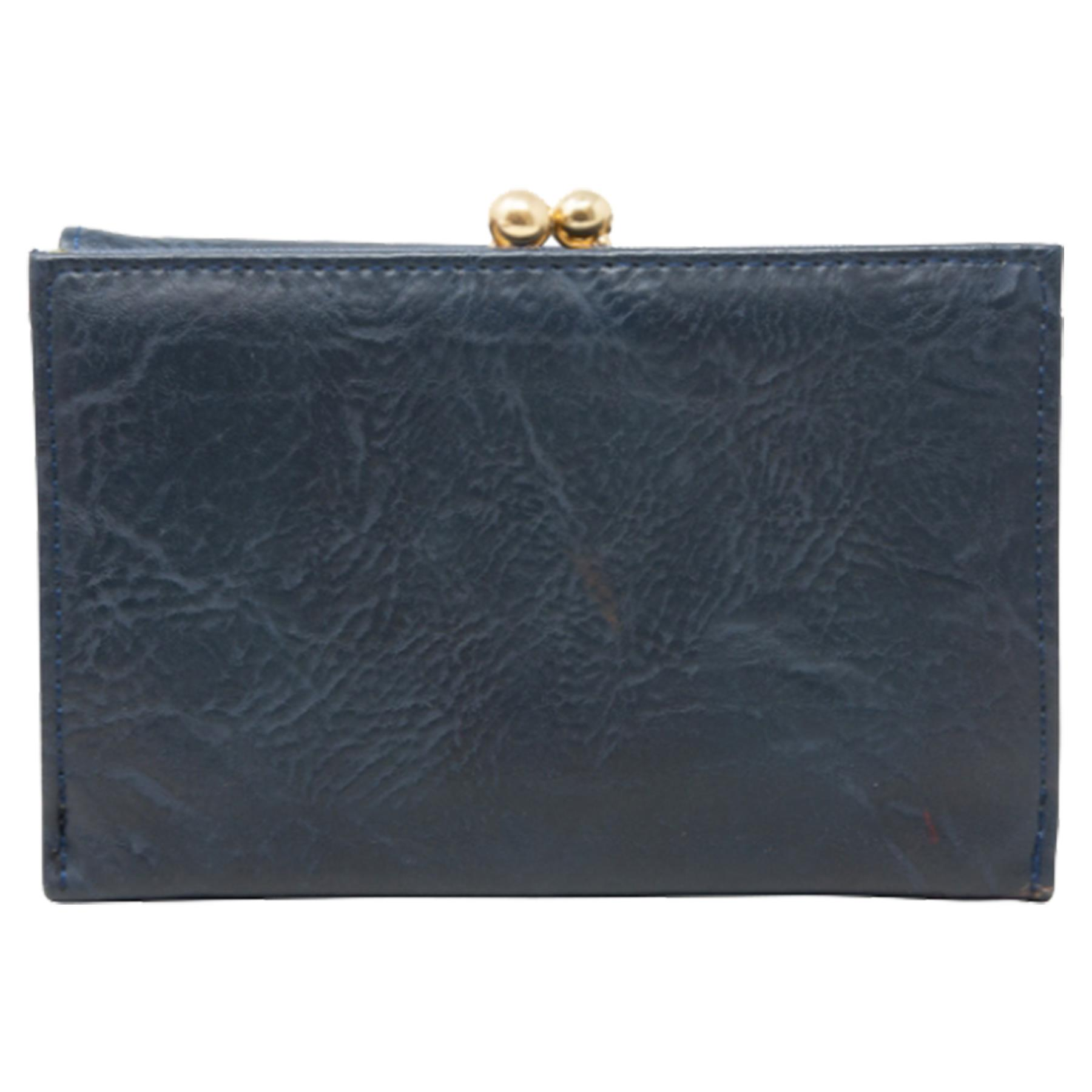 New-Synthetic-Leather-Kiss-Lock-Compartment-Ladies-Casual-Wallet-Purse thumbnail 8