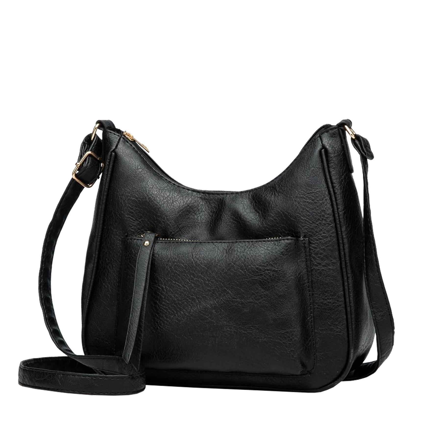 New-Soft-Synthetic-Leather-Front-Pocket-Ladies-Casual-Crossbody-Bag-Handbag thumbnail 6