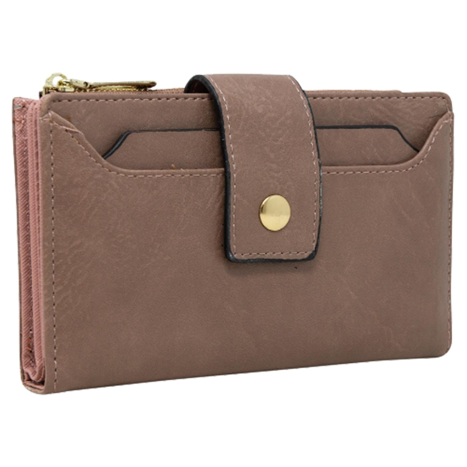 New-Soft-Plain-Synthetic-Leather-Card-Organiser-Ladies-Long-Purse thumbnail 19