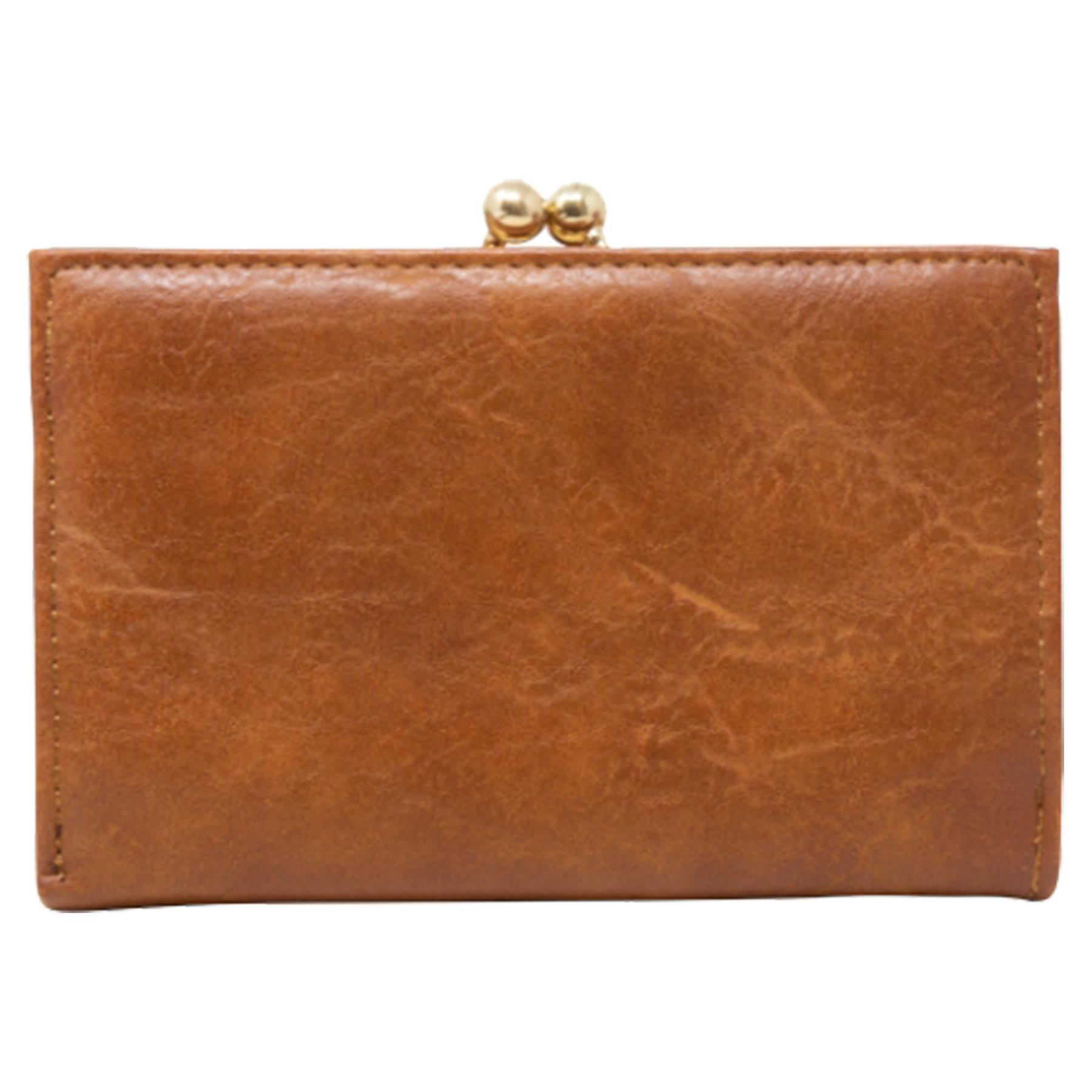 New-Synthetic-Leather-Kiss-Lock-Compartment-Ladies-Casual-Wallet-Purse thumbnail 12