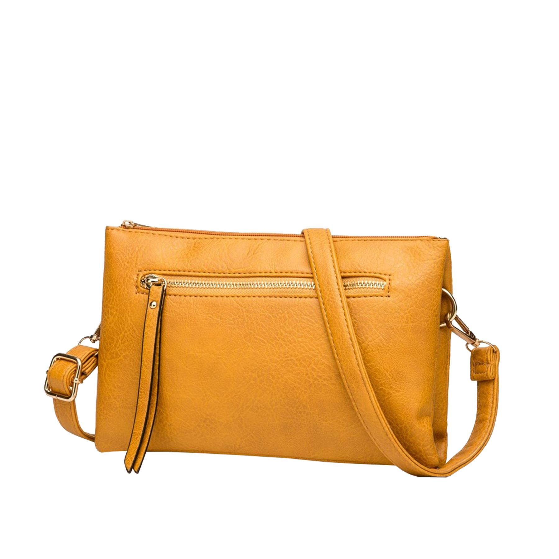 New-Plain-Synthetic-Leather-Women-s-Simple-Casual-Cross-Body-Bag thumbnail 6