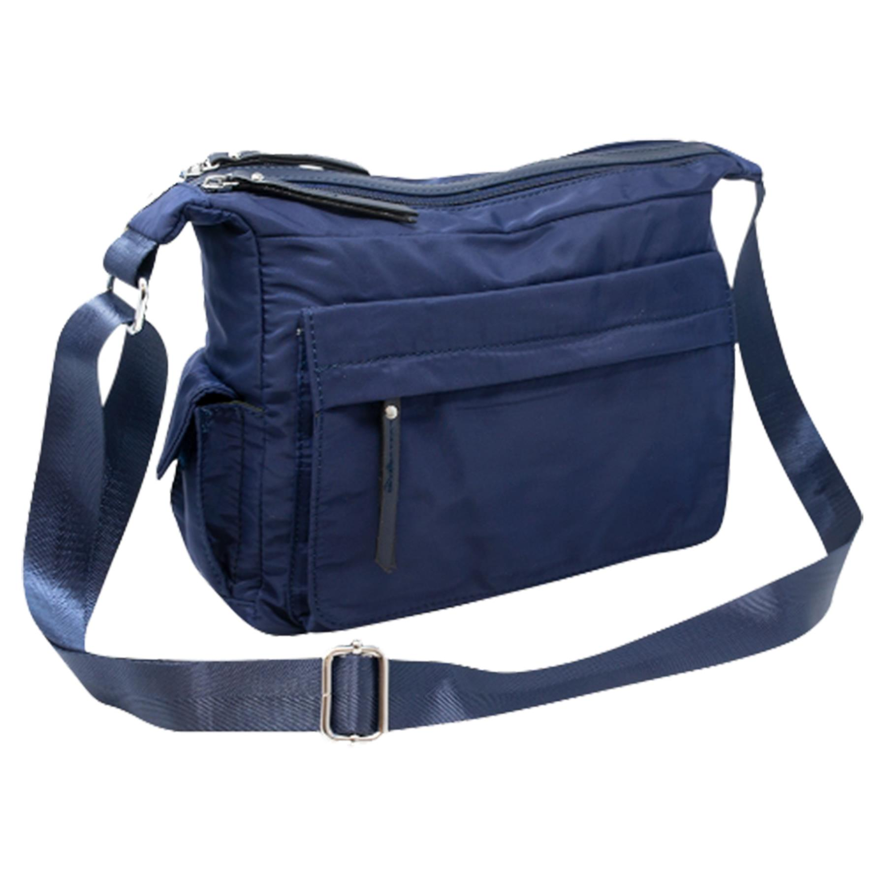 New-Ladies-Men-s-Showerproof-School-College-Practical-Basic-Crossbody-Bag thumbnail 13