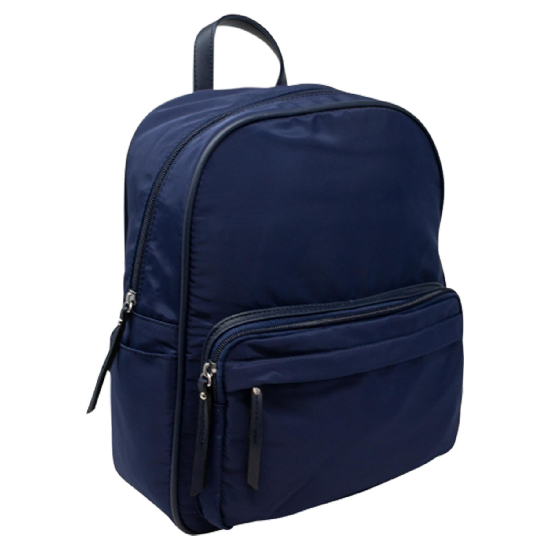 New-Unisex-Plain-Nylon-Showerproof-School-College-Backpack-Rucksack thumbnail 8