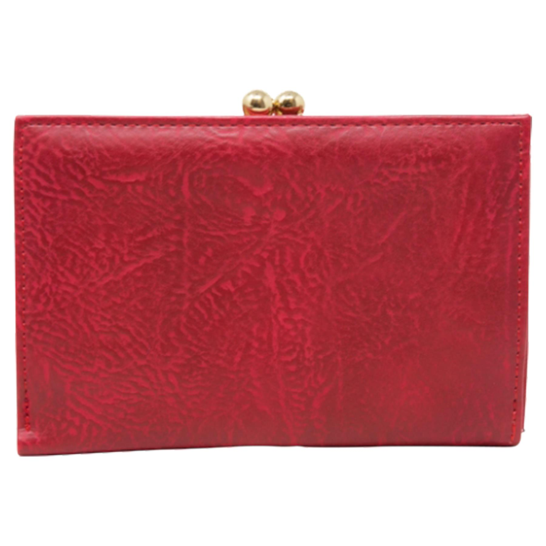 New-Synthetic-Leather-Kiss-Lock-Compartment-Ladies-Casual-Wallet-Purse thumbnail 24