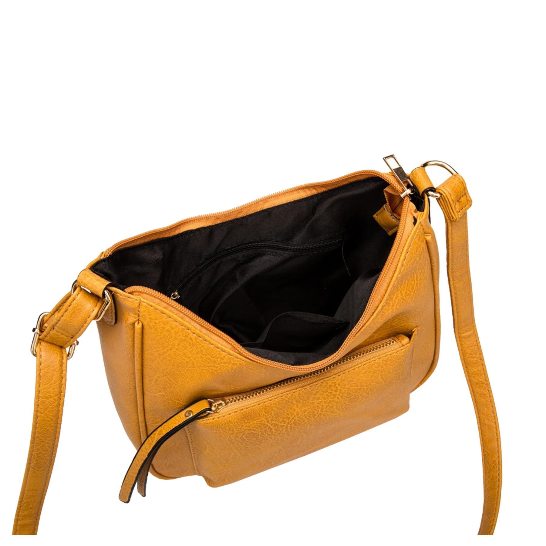 New-Soft-Synthetic-Leather-Front-Pocket-Ladies-Casual-Crossbody-Bag-Handbag thumbnail 13