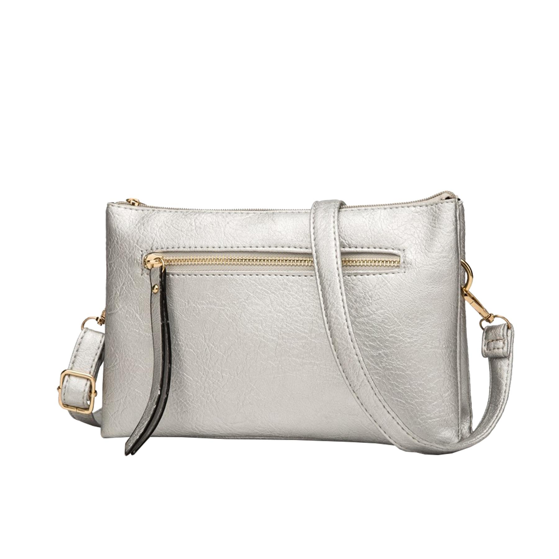 New-Plain-Synthetic-Leather-Women-s-Simple-Casual-Cross-Body-Bag thumbnail 12