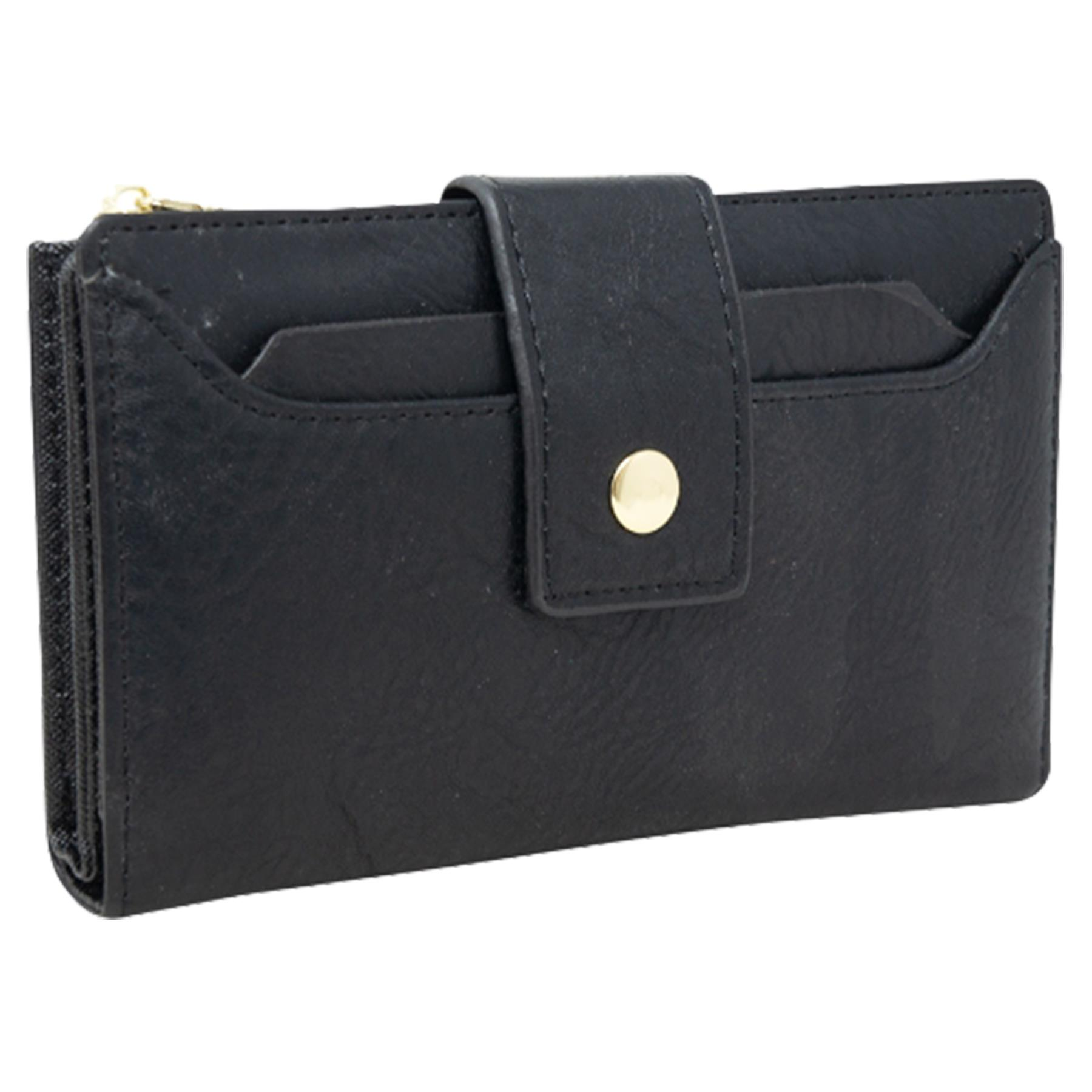New-Soft-Plain-Synthetic-Leather-Card-Organiser-Ladies-Long-Purse thumbnail 3