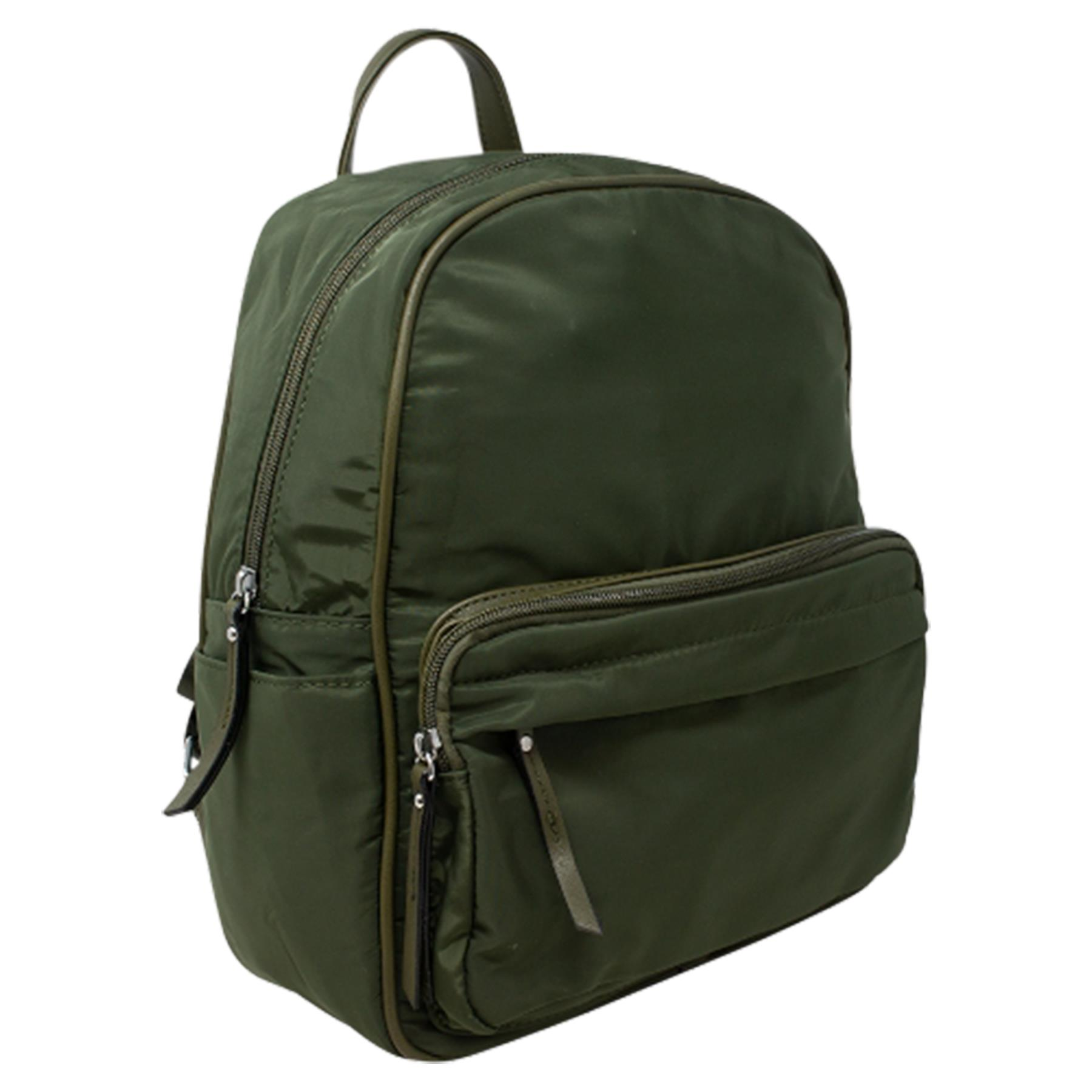 New-Unisex-Plain-Nylon-Showerproof-School-College-Backpack-Rucksack thumbnail 12