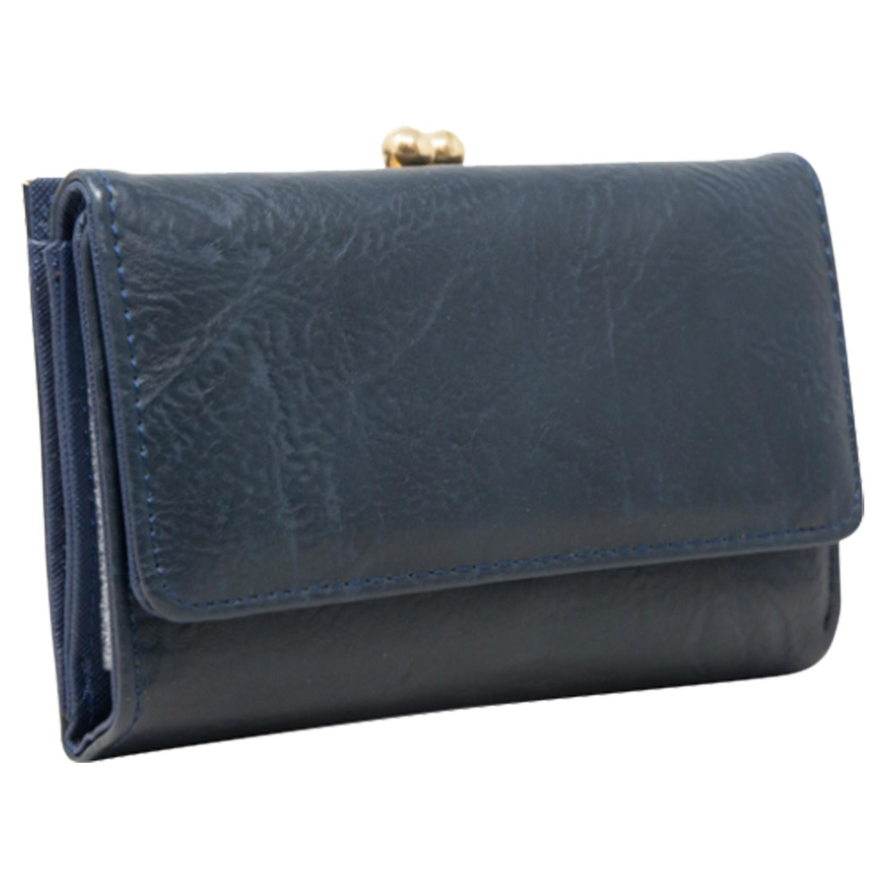 New-Synthetic-Leather-Kiss-Lock-Compartment-Ladies-Casual-Wallet-Purse thumbnail 7