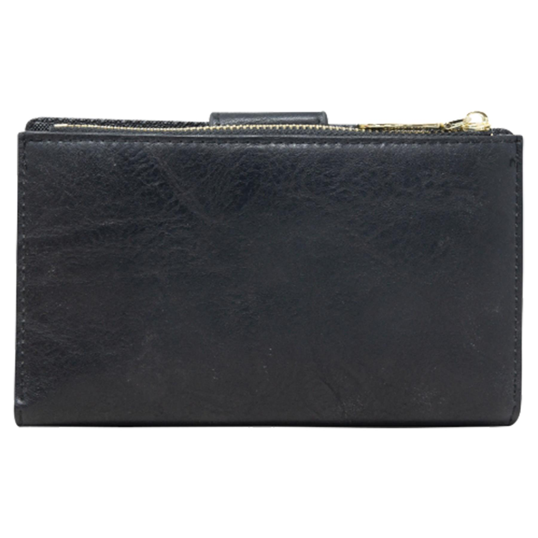 New-Soft-Plain-Synthetic-Leather-Card-Organiser-Ladies-Long-Purse thumbnail 4
