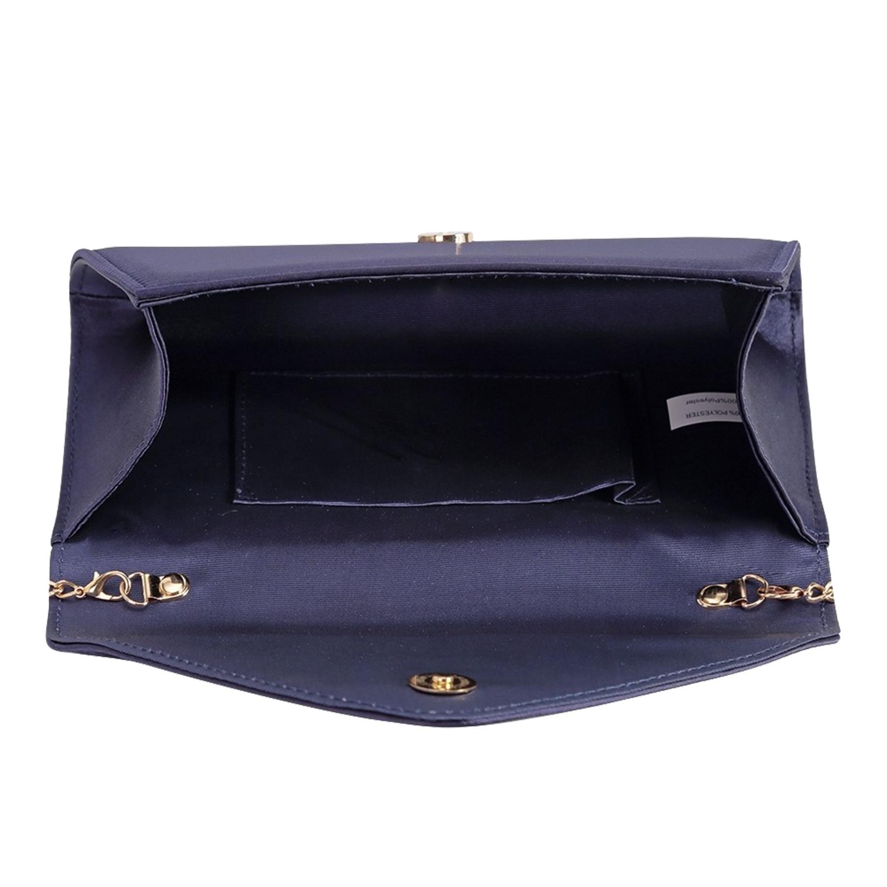 New-Ladies-Stylish-3D-Envelope-Satin-Prom-Party-Clutch-Bag-Purse thumbnail 7