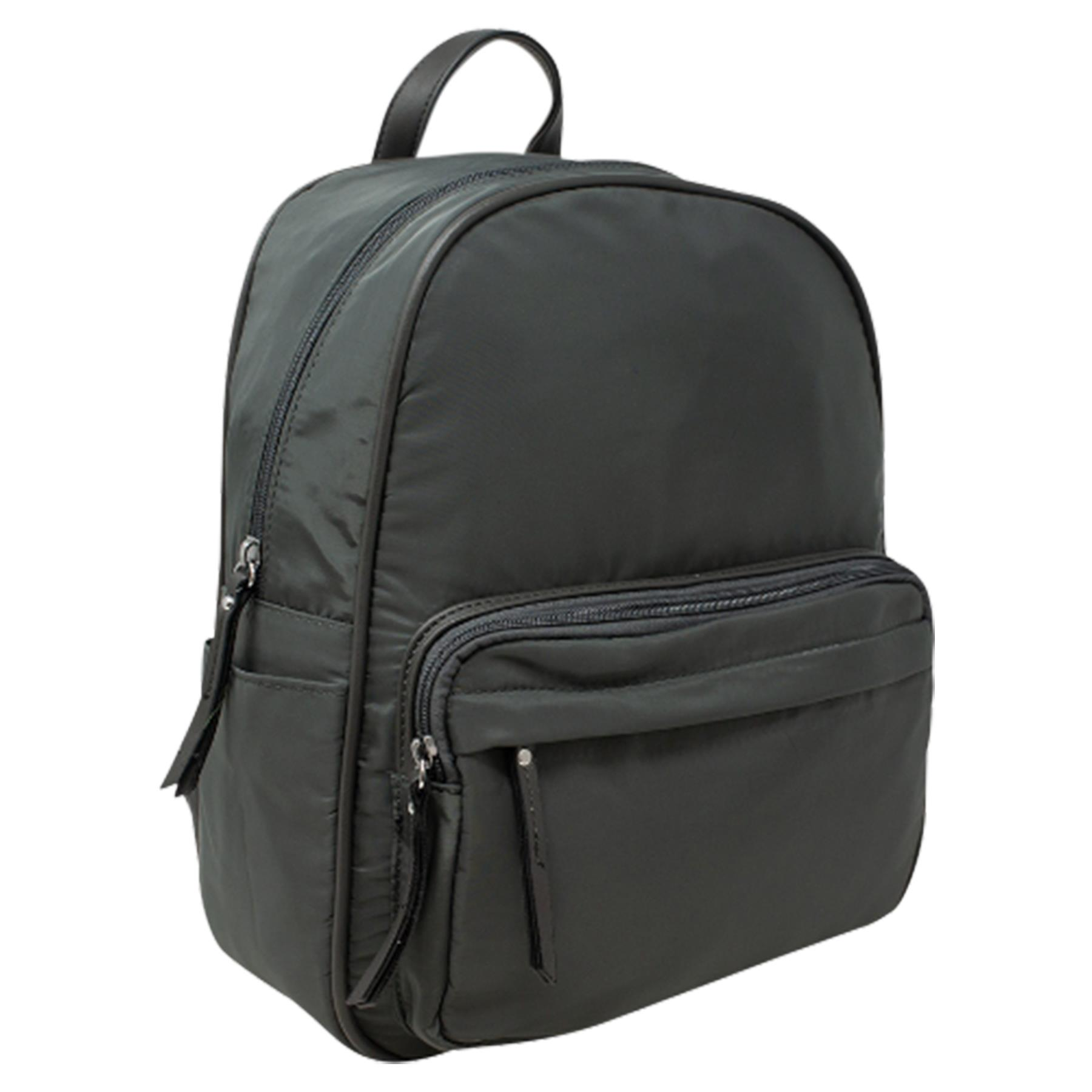 New-Unisex-Plain-Nylon-Showerproof-School-College-Backpack-Rucksack thumbnail 17