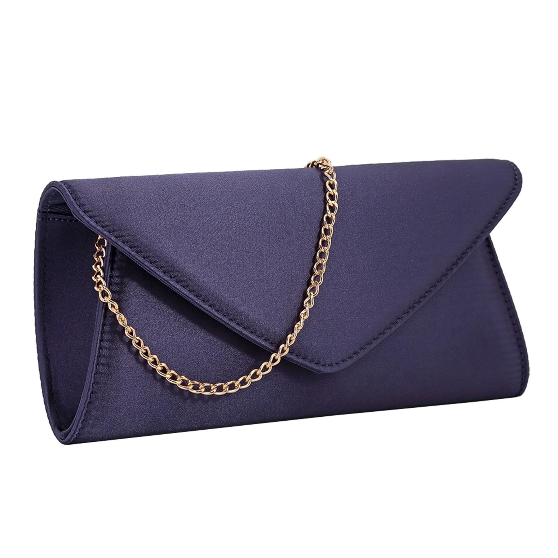 New-Ladies-Stylish-3D-Envelope-Satin-Prom-Party-Clutch-Bag-Purse thumbnail 6