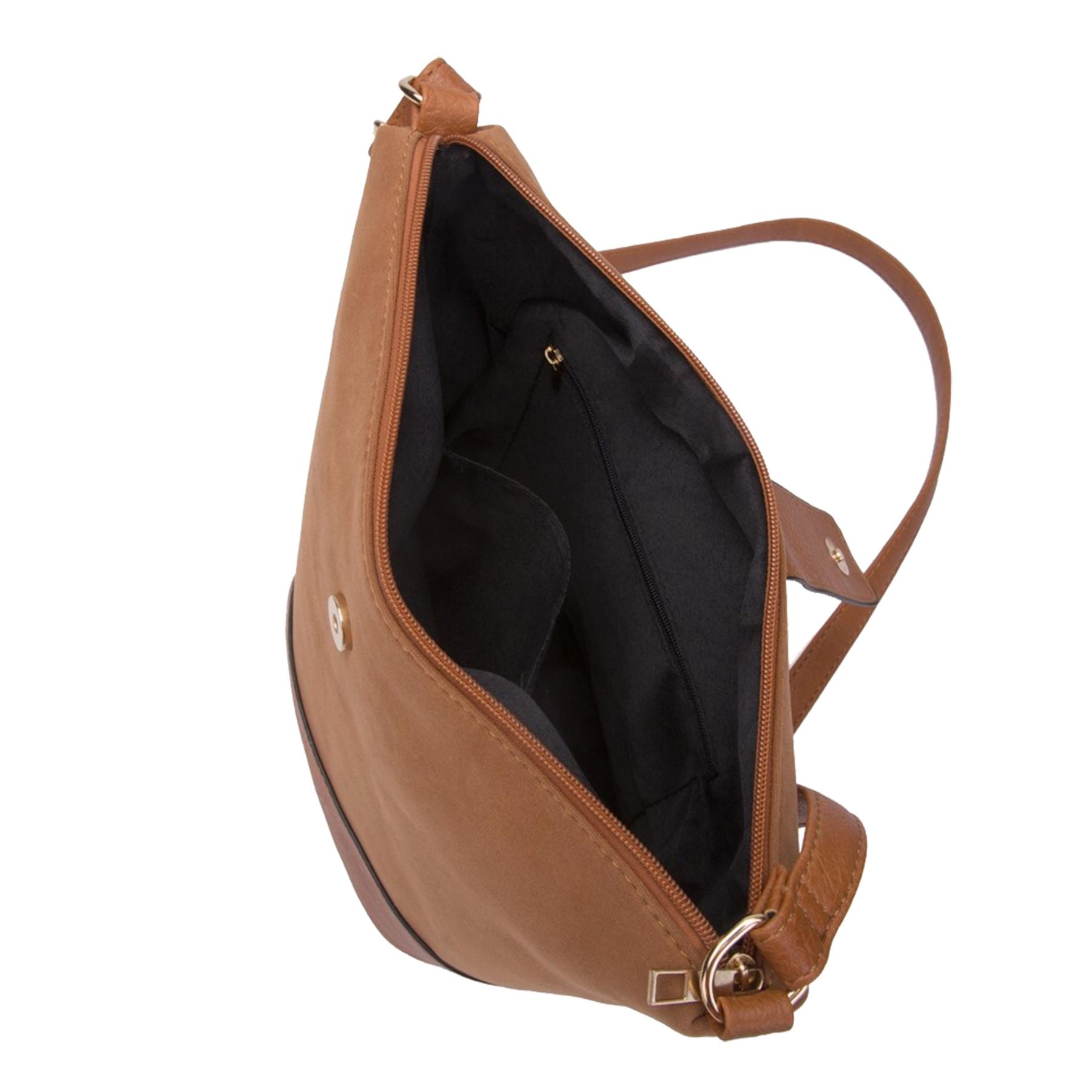 New-Ladies-Two-Toned-Faux-Leather-Fashion-Shoulder-Cross-Body-Bag thumbnail 16