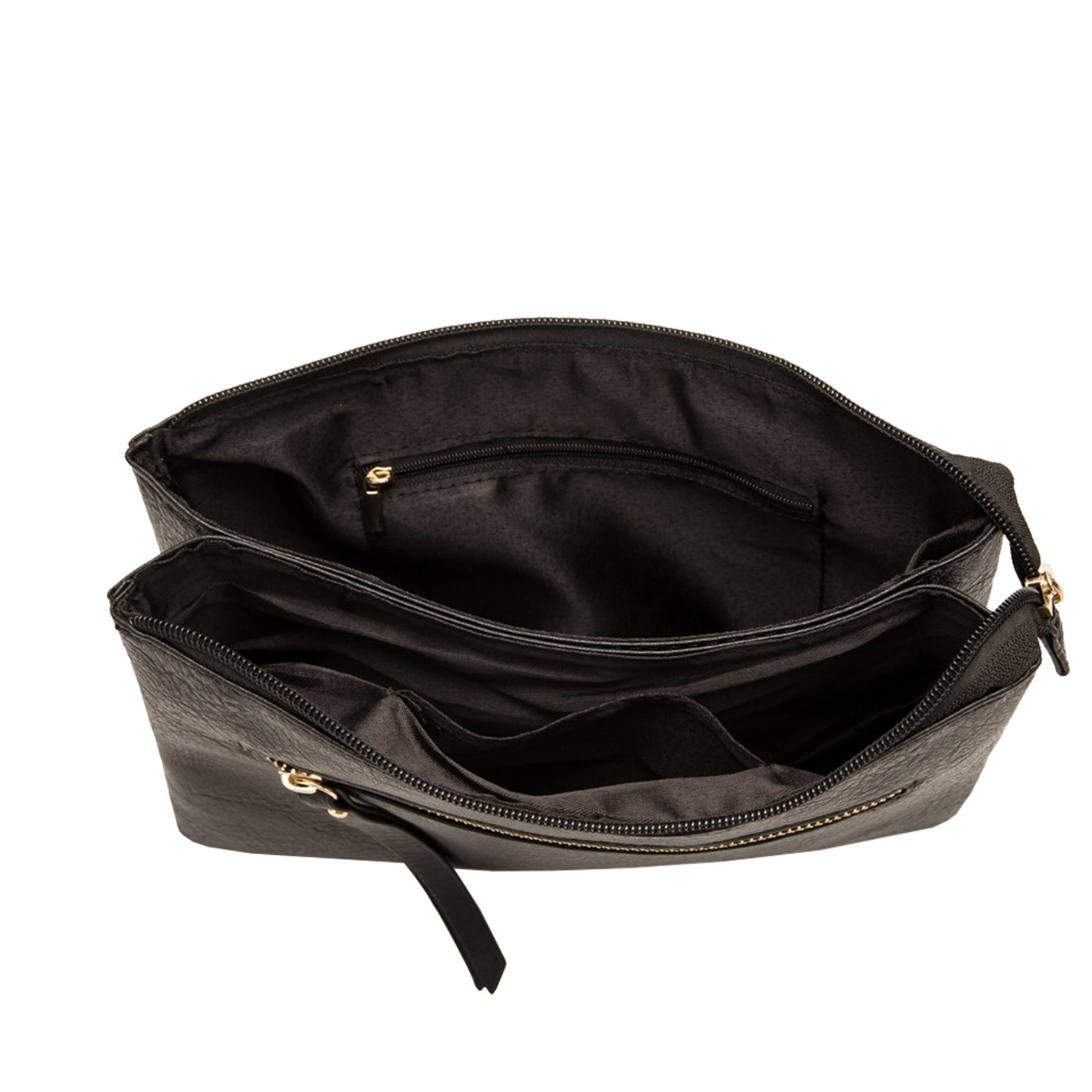 New-Plain-Synthetic-Leather-Women-s-Simple-Casual-Cross-Body-Bag thumbnail 4