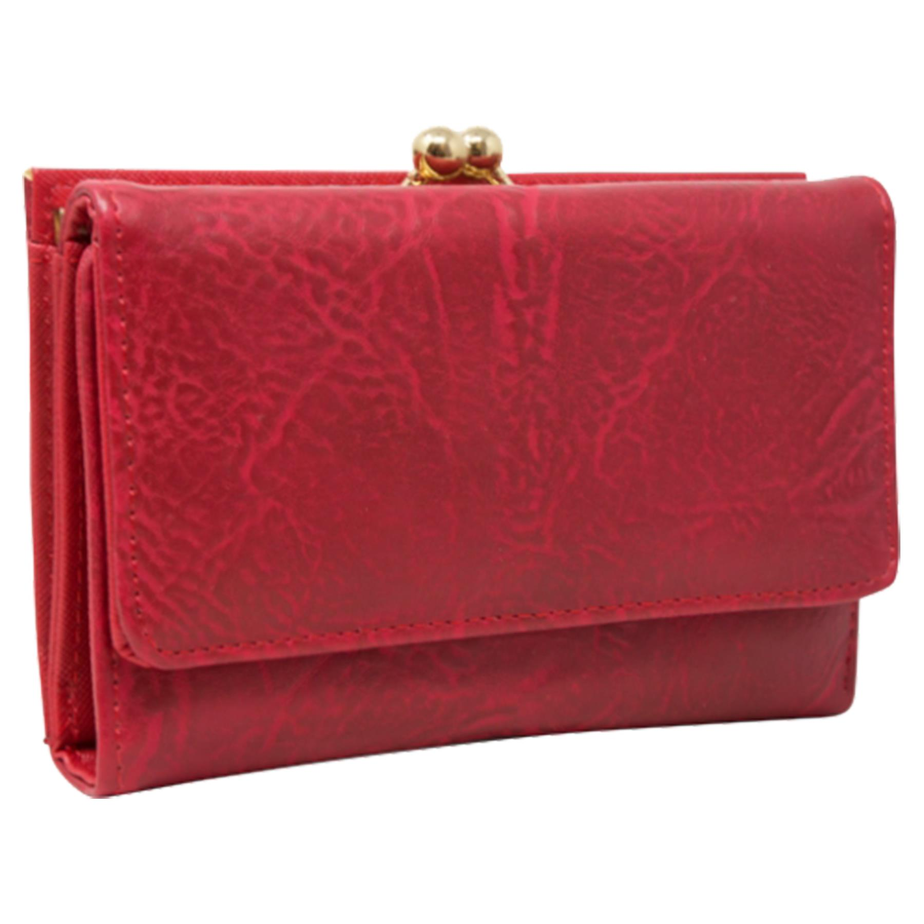 New-Synthetic-Leather-Kiss-Lock-Compartment-Ladies-Casual-Wallet-Purse thumbnail 23