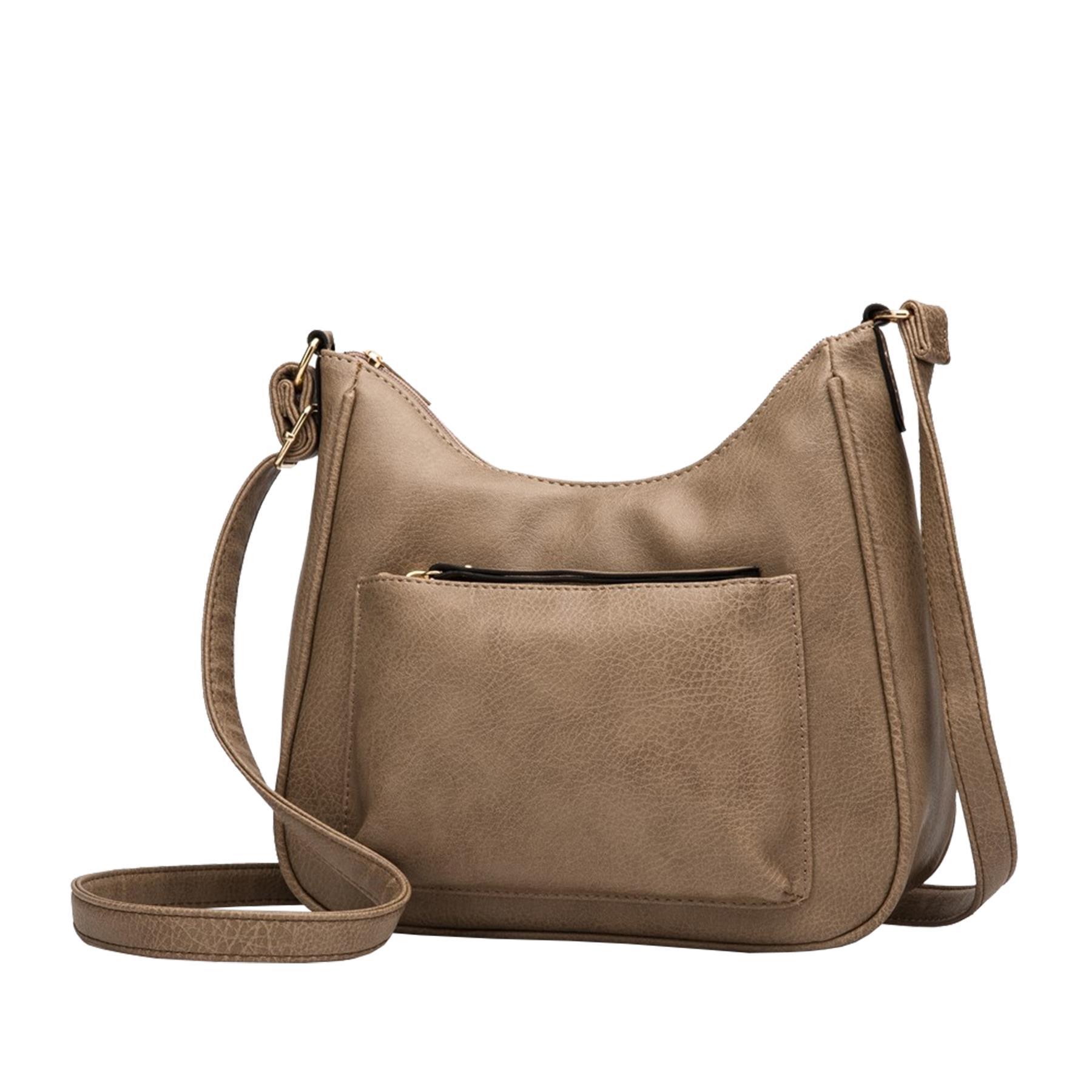 New-Soft-Synthetic-Leather-Front-Pocket-Ladies-Casual-Crossbody-Bag-Handbag thumbnail 9