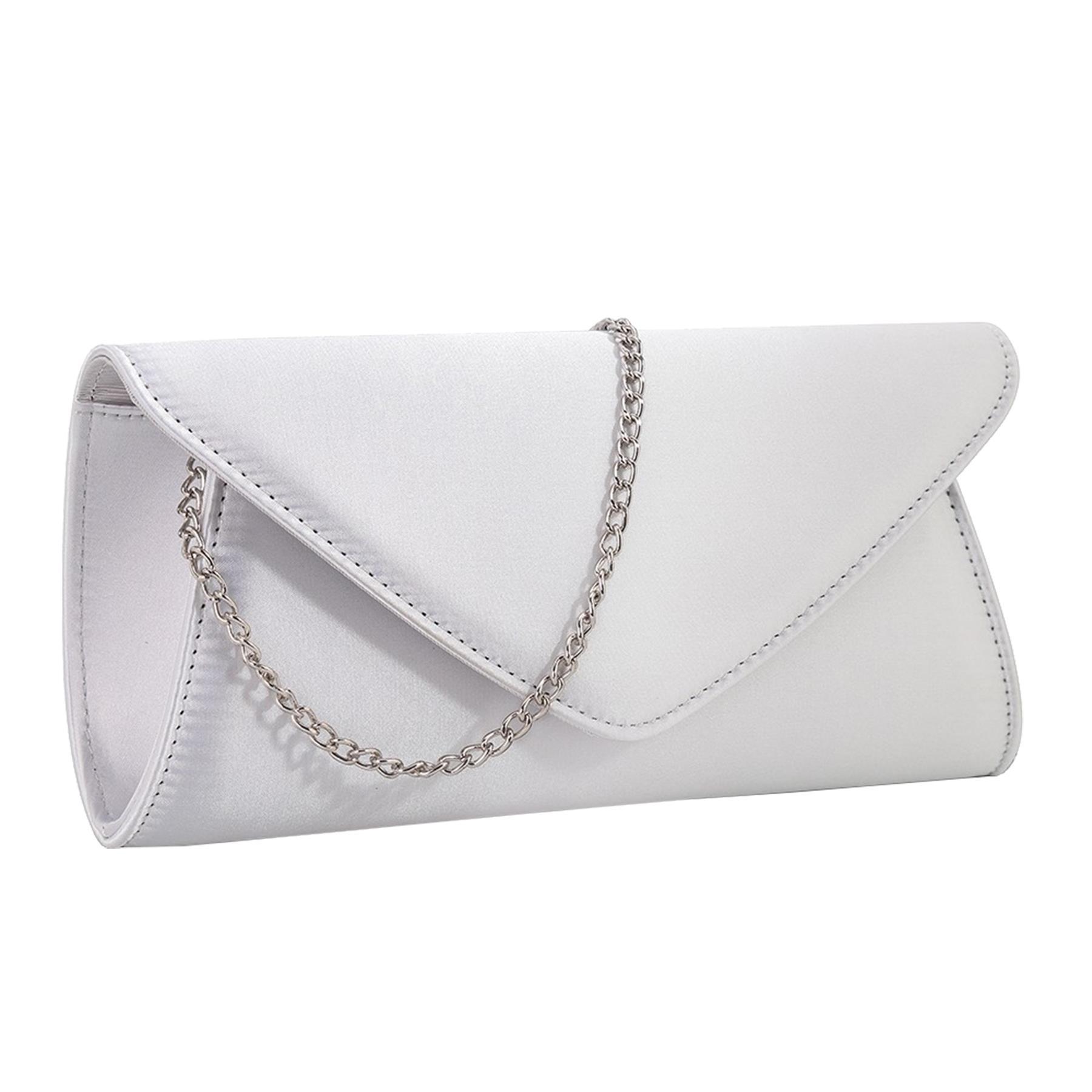 New-Ladies-Stylish-3D-Envelope-Satin-Prom-Party-Clutch-Bag-Purse thumbnail 12