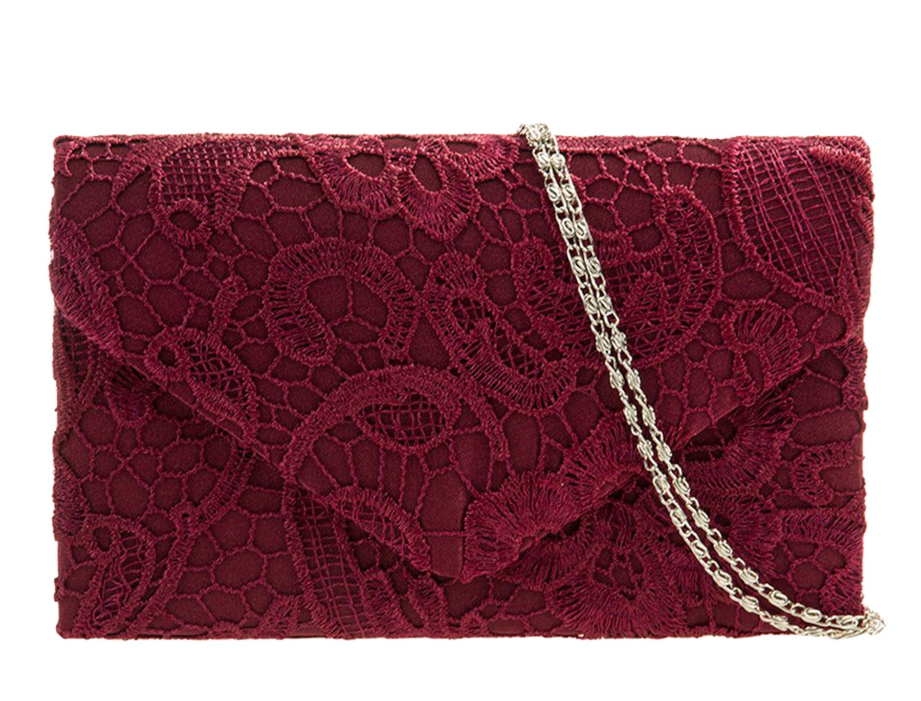 ivory royal burgundy Satin grey spruce Party Envelope Lace Prom Existencias  silver Hay Black Clutch coral ... 9d6de288a323