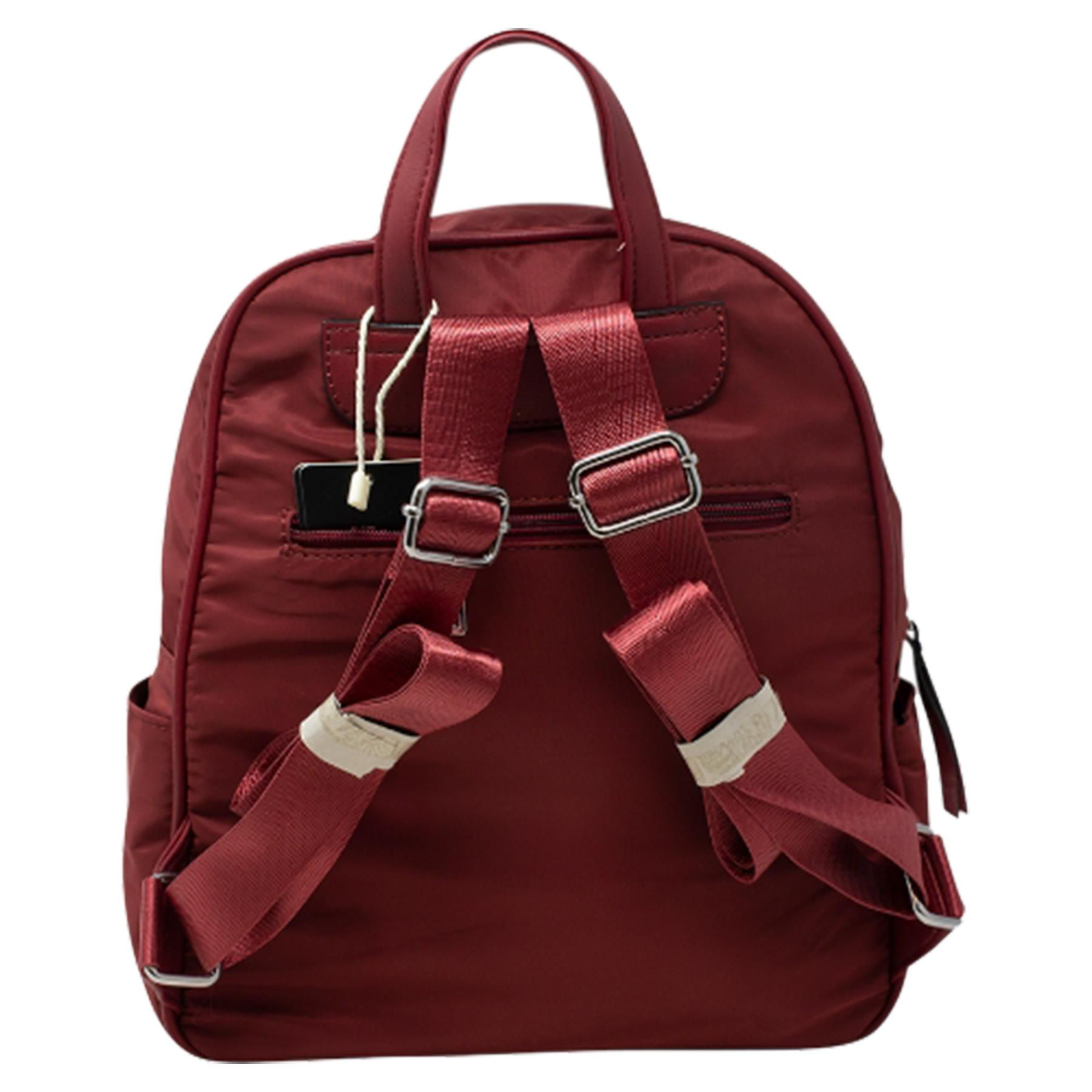 New-Unisex-Plain-Nylon-Showerproof-School-College-Backpack-Rucksack thumbnail 23