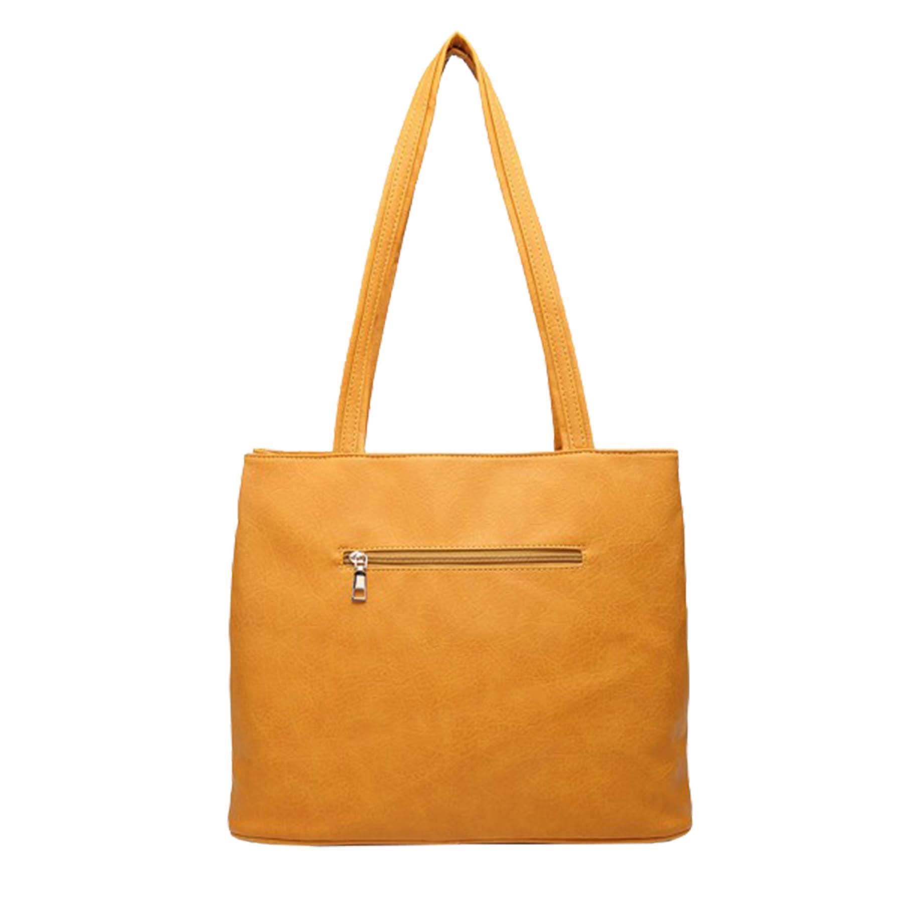 New-Casual-Ladies-Work-Double-Compartment-Metallic-Detail-Shoulder-Bag thumbnail 9