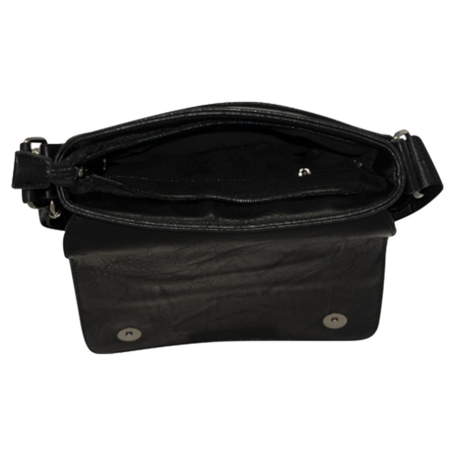 New-Plain-Faux-Leather-Men-s-Travel-Casual-Flap-Over-Messenger-Bag thumbnail 5
