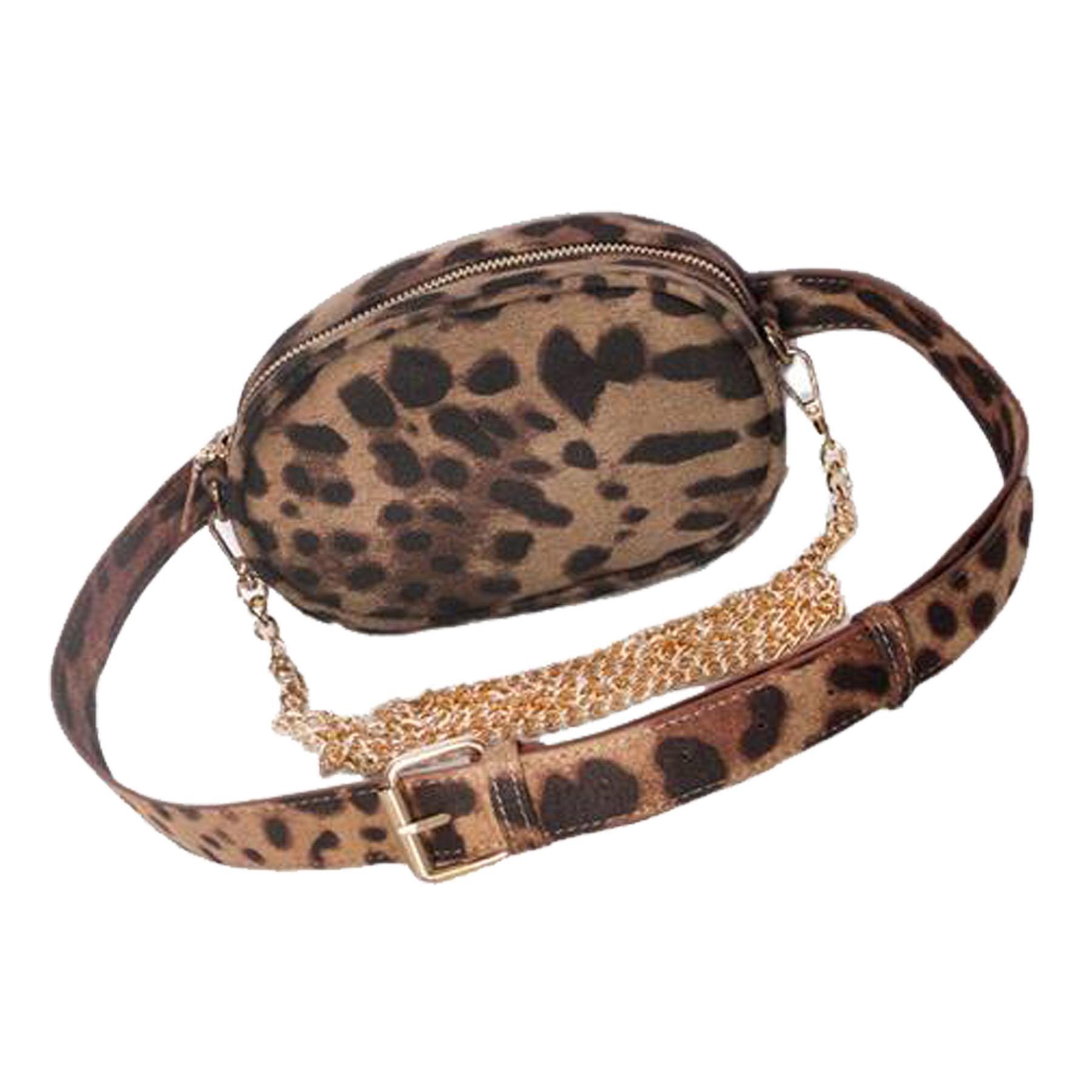 New-Synthetic-Leather-Animal-Leopard-Print-Ladies-Festival-Bum-Waist-Bag thumbnail 3