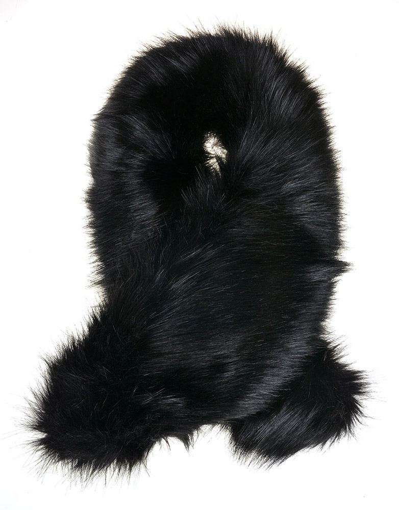 NEW LADIES FAUX FUR TWISTED SHOULDER NECK WINTER WARMER TIPPET LAYER ... 4691bad805755
