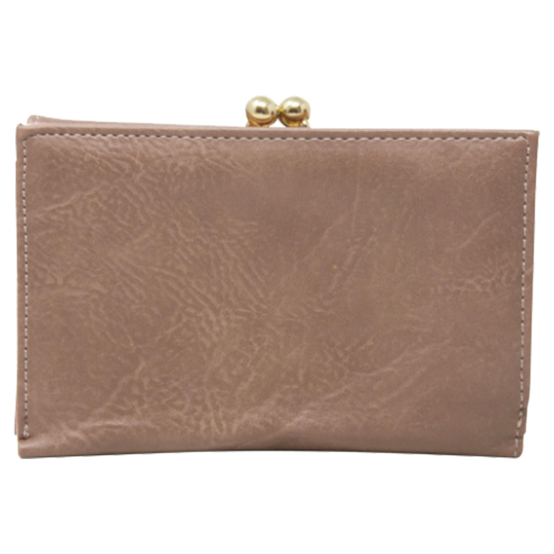 New-Synthetic-Leather-Kiss-Lock-Compartment-Ladies-Casual-Wallet-Purse thumbnail 20