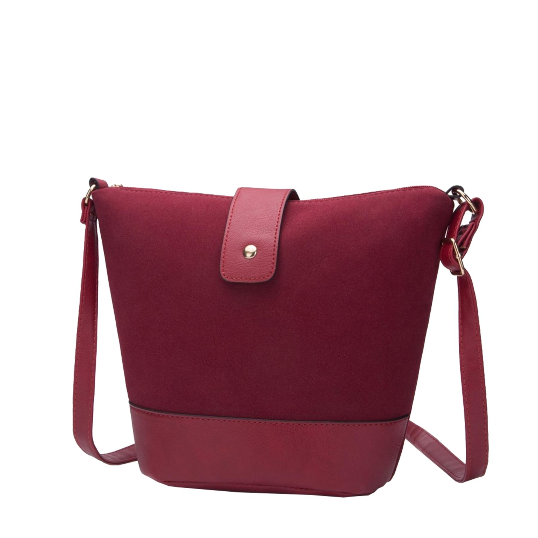 New-Ladies-Two-Toned-Faux-Leather-Fashion-Shoulder-Cross-Body-Bag thumbnail 6