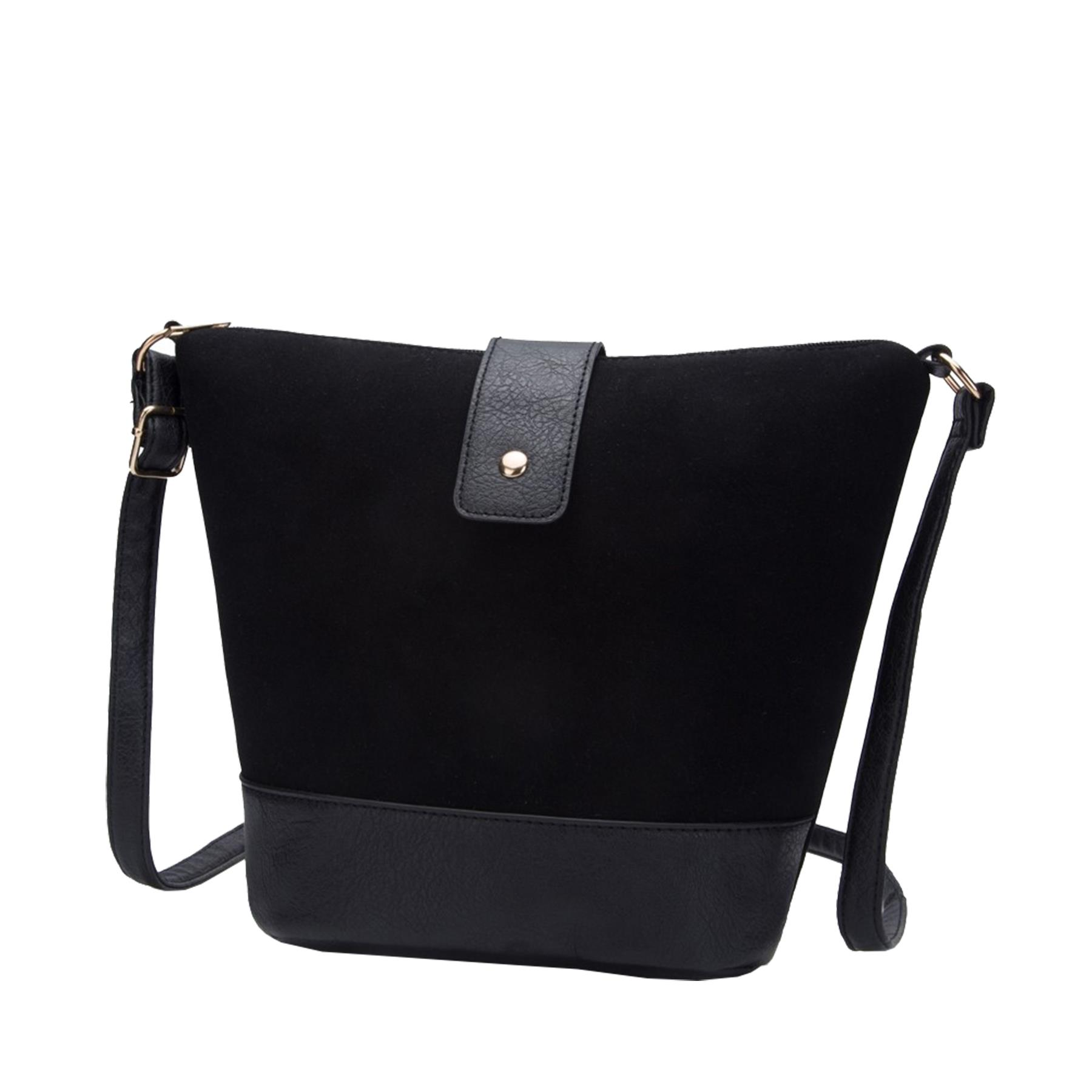 New-Ladies-Two-Toned-Faux-Leather-Fashion-Shoulder-Cross-Body-Bag thumbnail 3