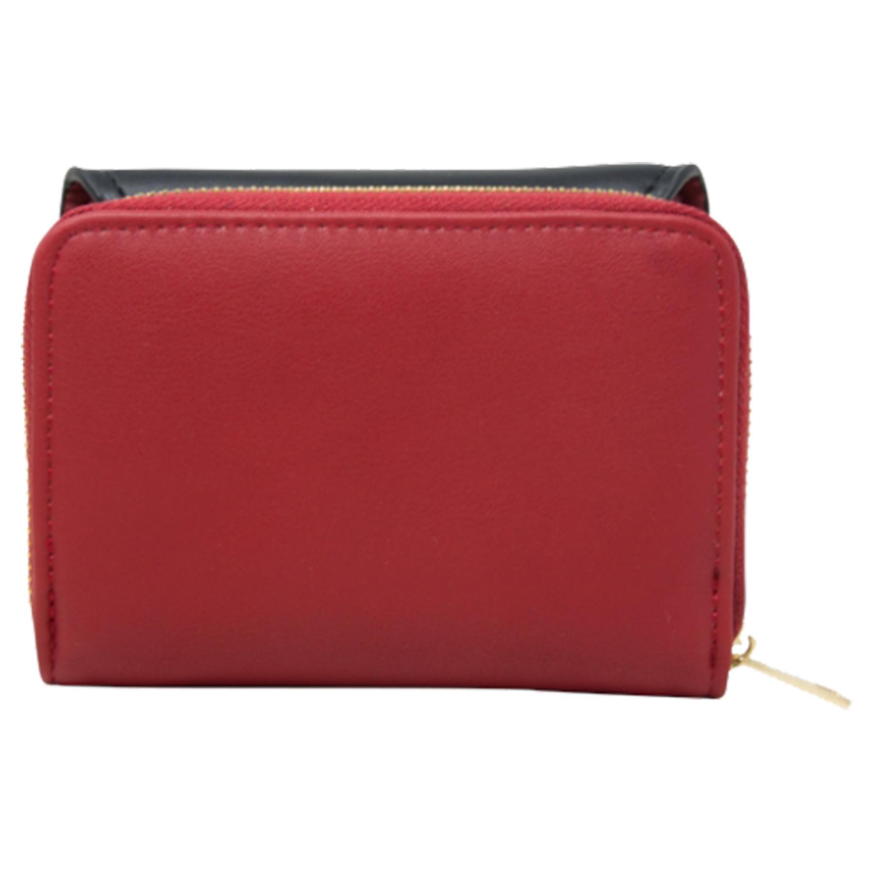 New-Ladies-Multicoloured-Envelope-Faux-Leather-Reptile-Detail-Purse thumbnail 28