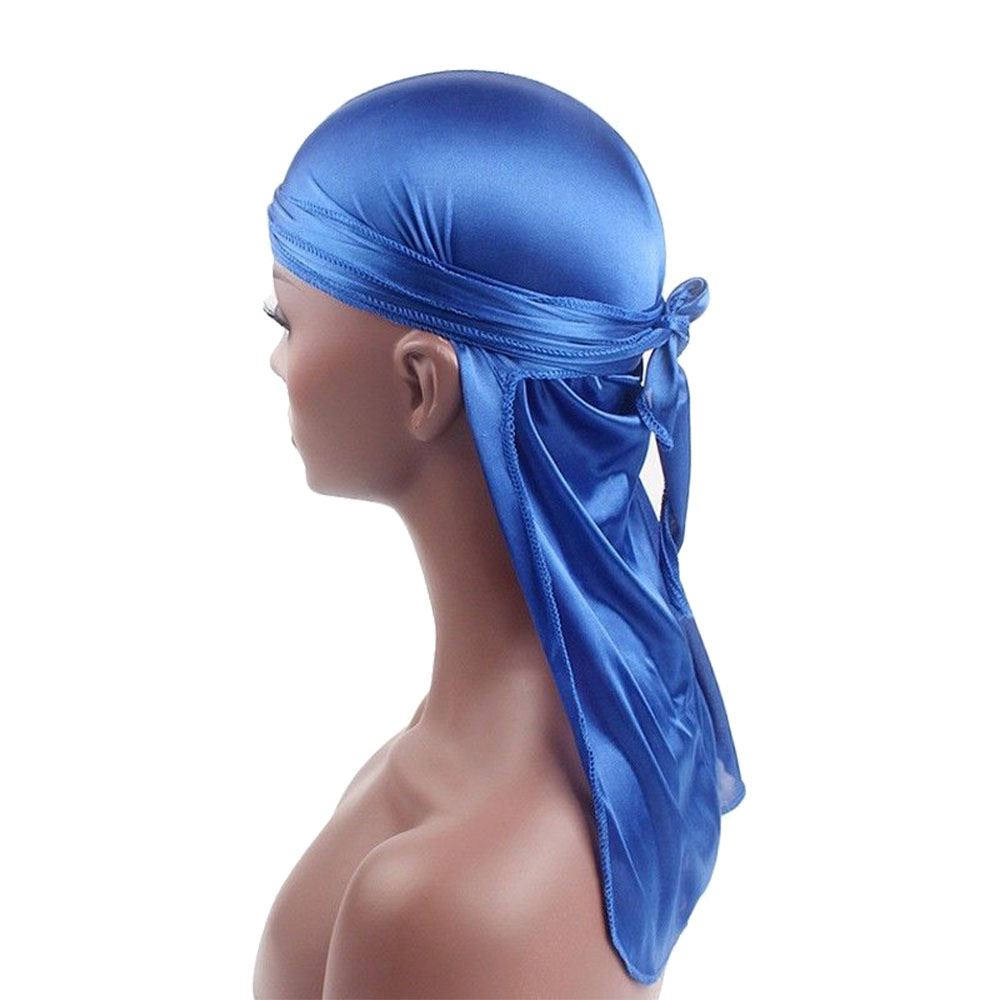 New Unisex Shiny Silky Breathable Tie-Dow Flexible Wrap Cap Bandanna Durag Wig