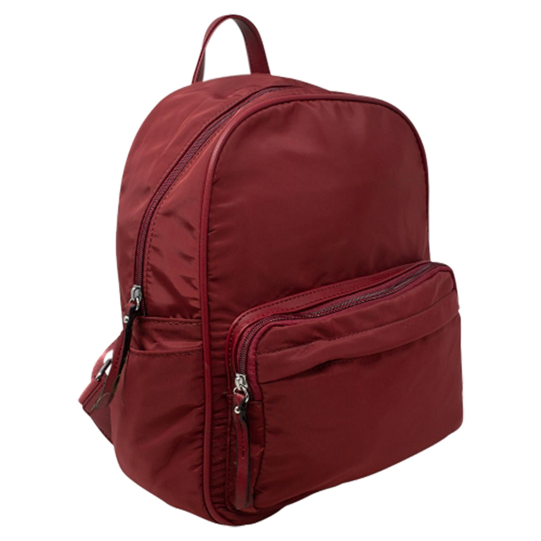 New-Unisex-Plain-Nylon-Showerproof-School-College-Backpack-Rucksack thumbnail 22