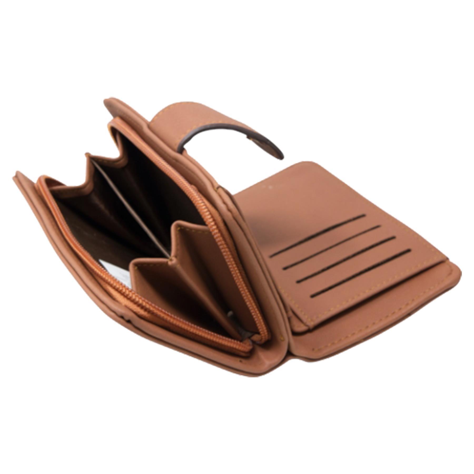 New-Ladies-Card-Slots-Zipped-Pocket-Faux-Leather-Basic-Wallet-Purse thumbnail 12