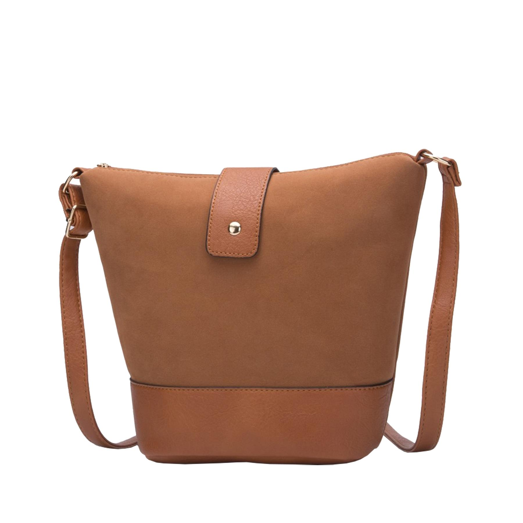 New-Ladies-Two-Toned-Faux-Leather-Fashion-Shoulder-Cross-Body-Bag thumbnail 15