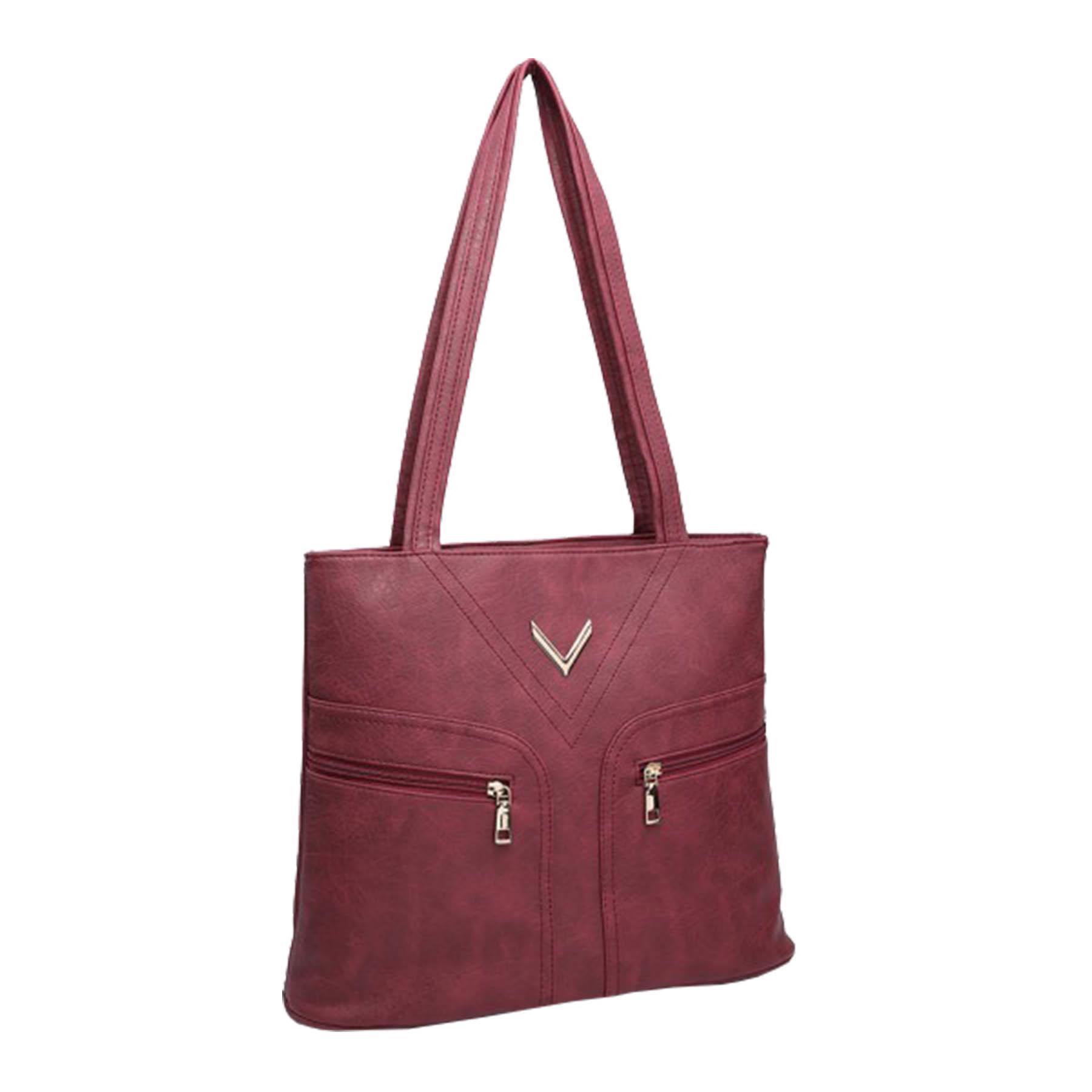 New-Ladies-Metallic-Detail-Double-Zipper-Faux-Leather-Shopper-Shoulder-Tote-Bag thumbnail 9