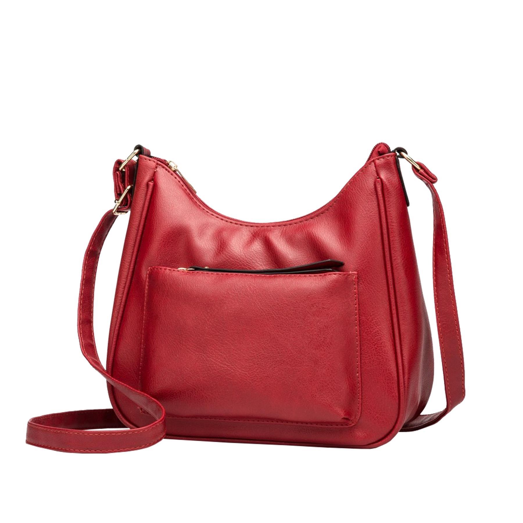 New-Soft-Synthetic-Leather-Front-Pocket-Ladies-Casual-Crossbody-Bag-Handbag thumbnail 3