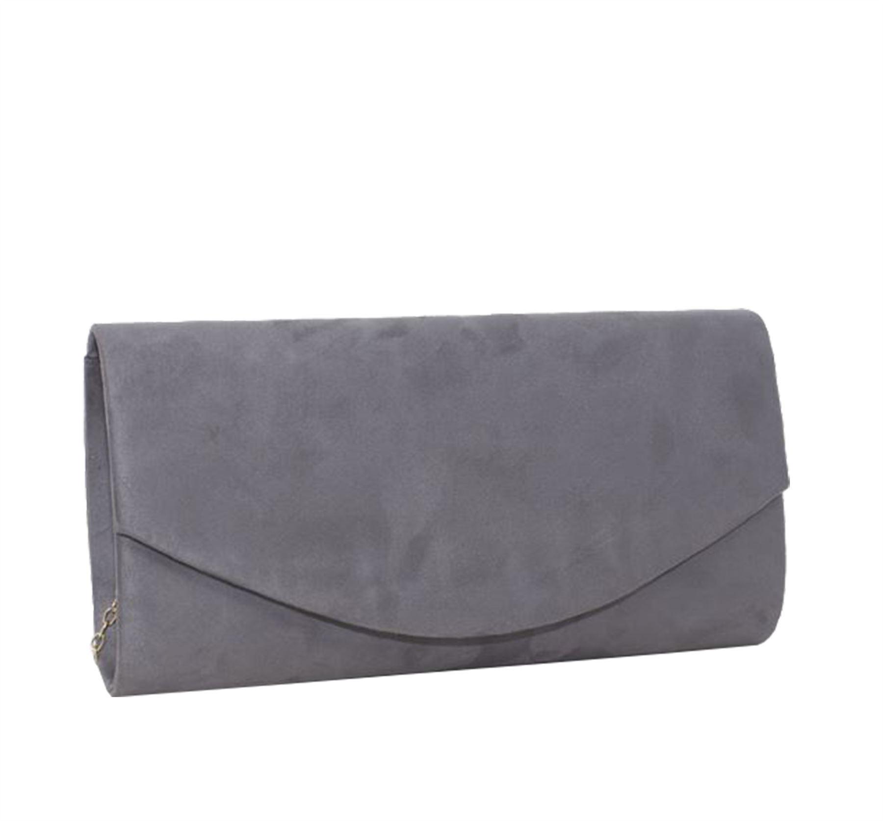c4422942b6a6a New Velvet Simple Plain Women's Party Evening clutch Bag Purse | eBay