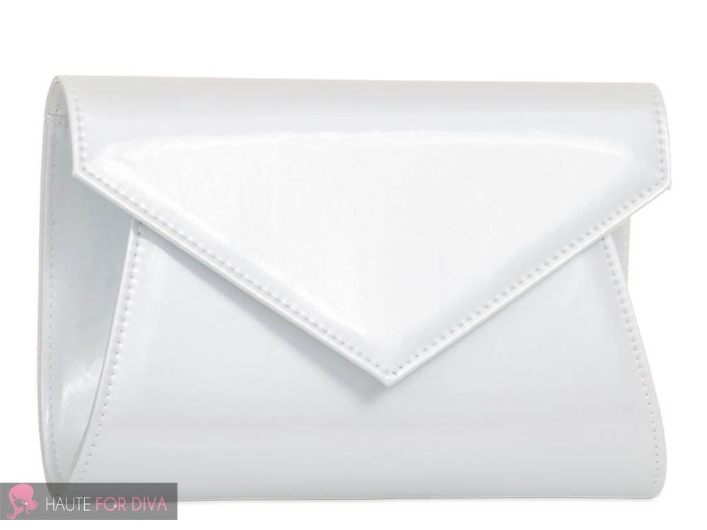 LADIES NEW PATENT HOLOGRAPHIC CHAIN STRAP PROM BRIDAL CLUTCH BAG HANDBAG