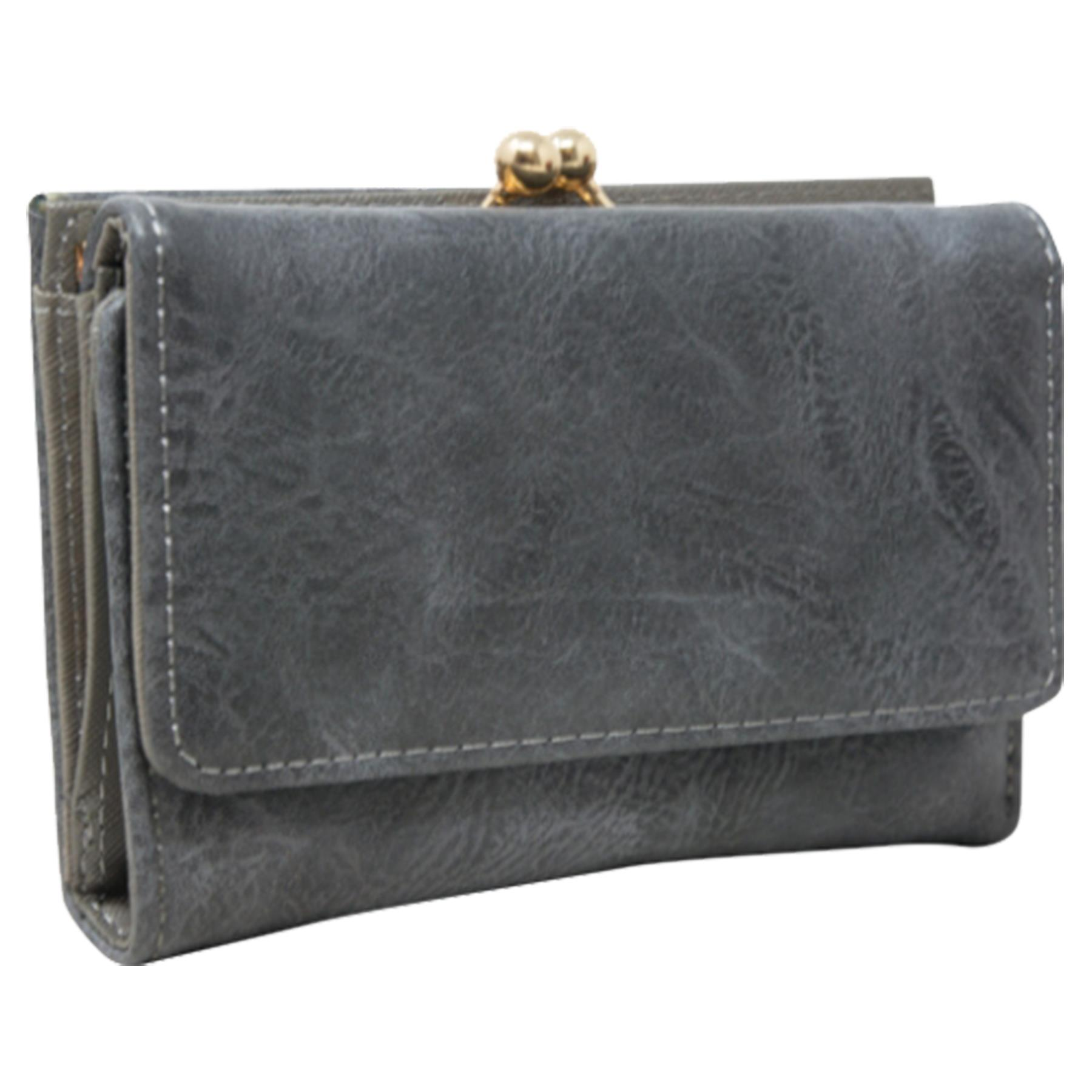 New-Synthetic-Leather-Kiss-Lock-Compartment-Ladies-Casual-Wallet-Purse thumbnail 15