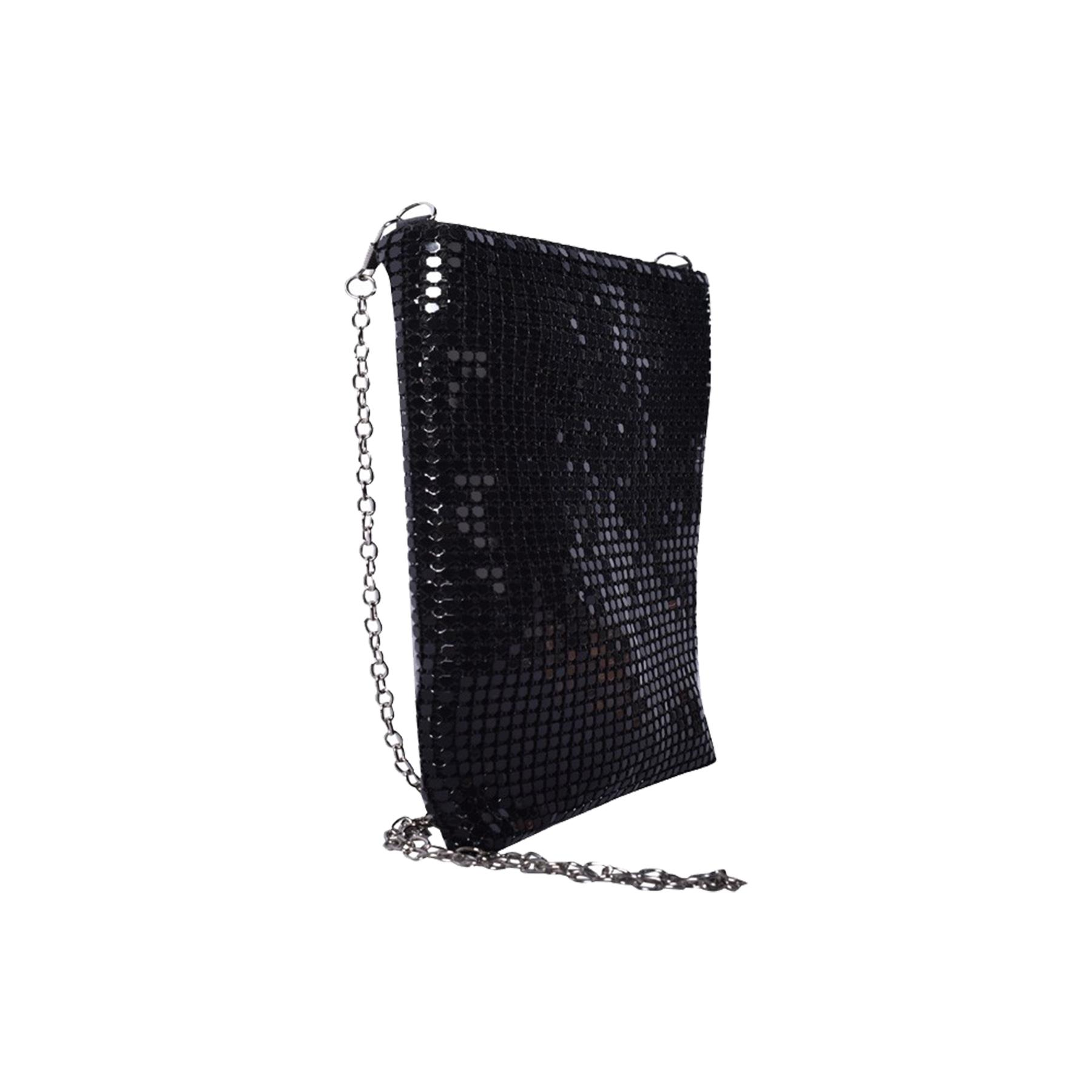 New-Ladies-Chainmail-Faux-Leather-Chain-Strap-Wedding-Clutch-Bag-Pouch thumbnail 12