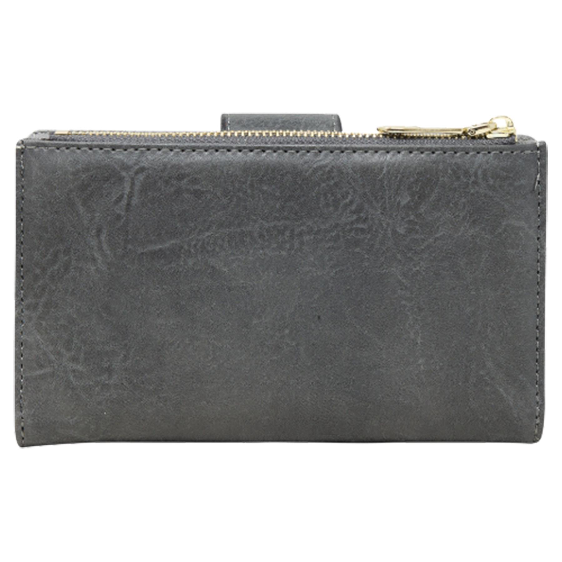 New-Soft-Plain-Synthetic-Leather-Card-Organiser-Ladies-Long-Purse thumbnail 16
